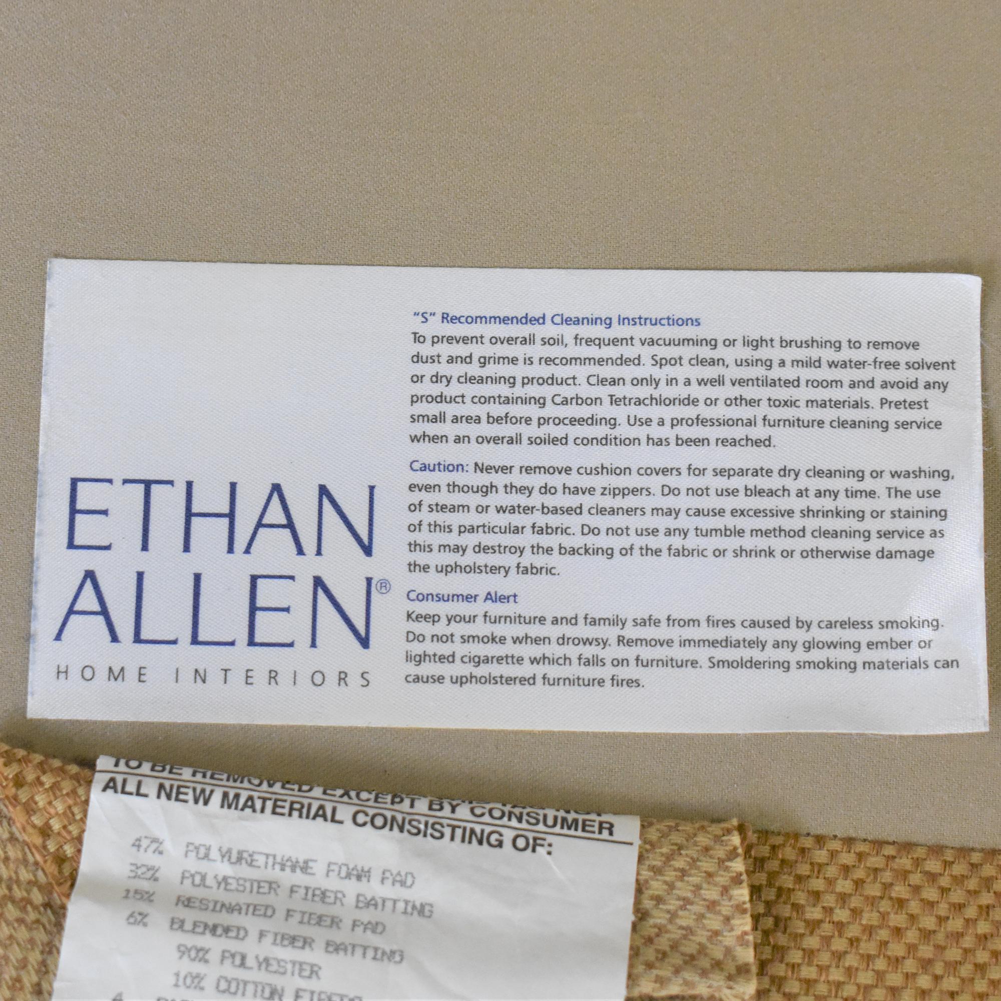buy Ethan Allen Roll Arm Skirted Sofa Ethan Allen Classic Sofas