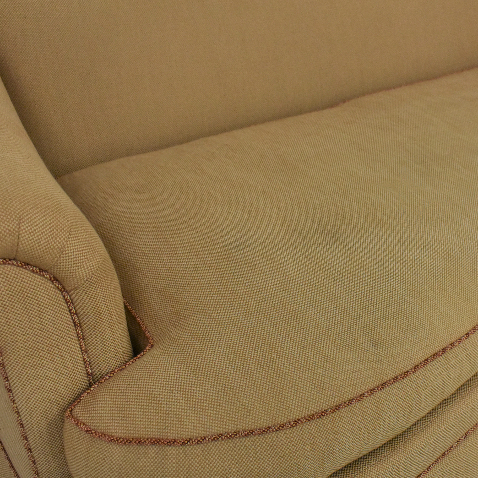 Ethan Allen Ethan Allen Roll Arm Skirted Sofa