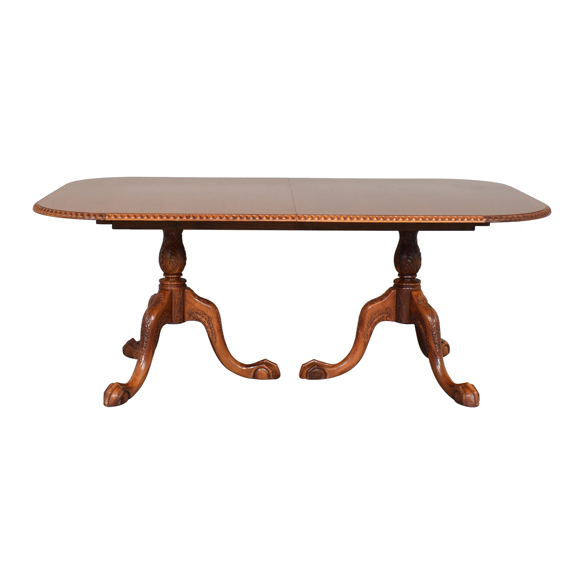 buy  Double Pedestal Extendable Dining Table online