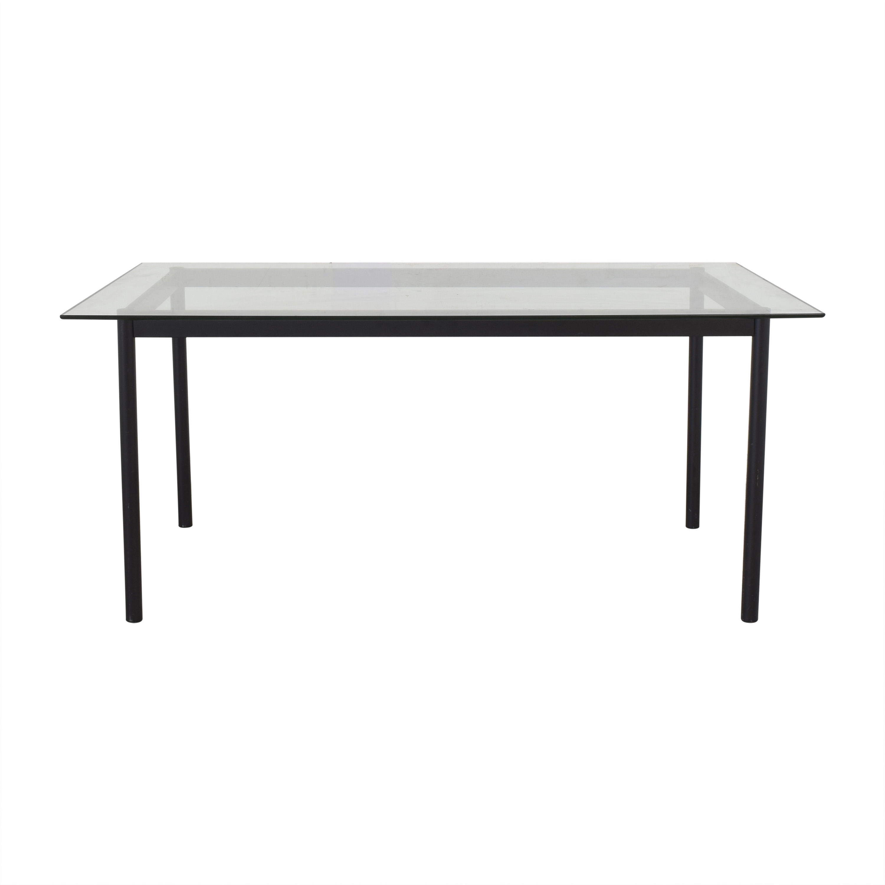 Workbench Workbench Dining Table with Transparent Surface Tables
