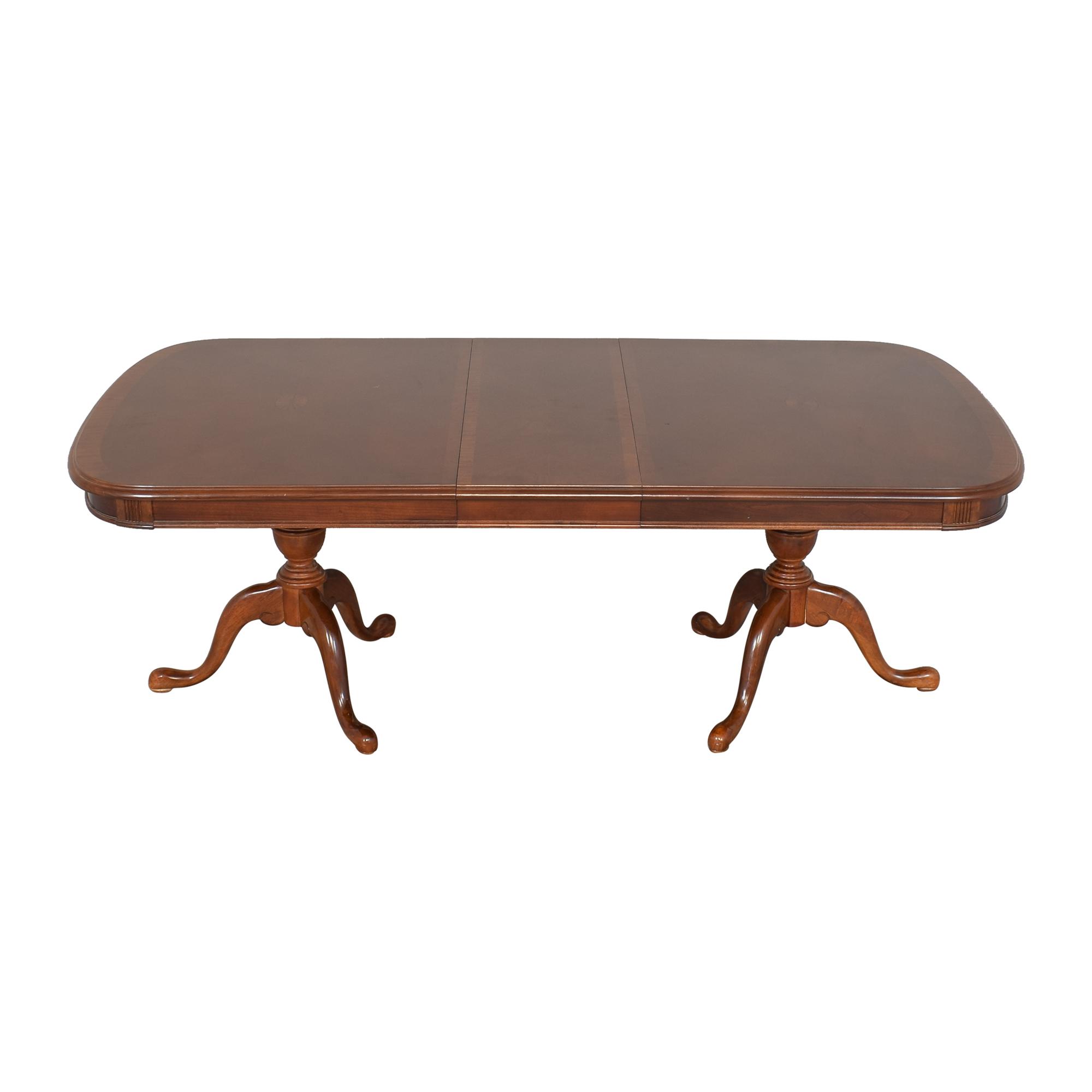 shop Universal Furniture Double Pedestal Extending Dining Table Universal Furniture