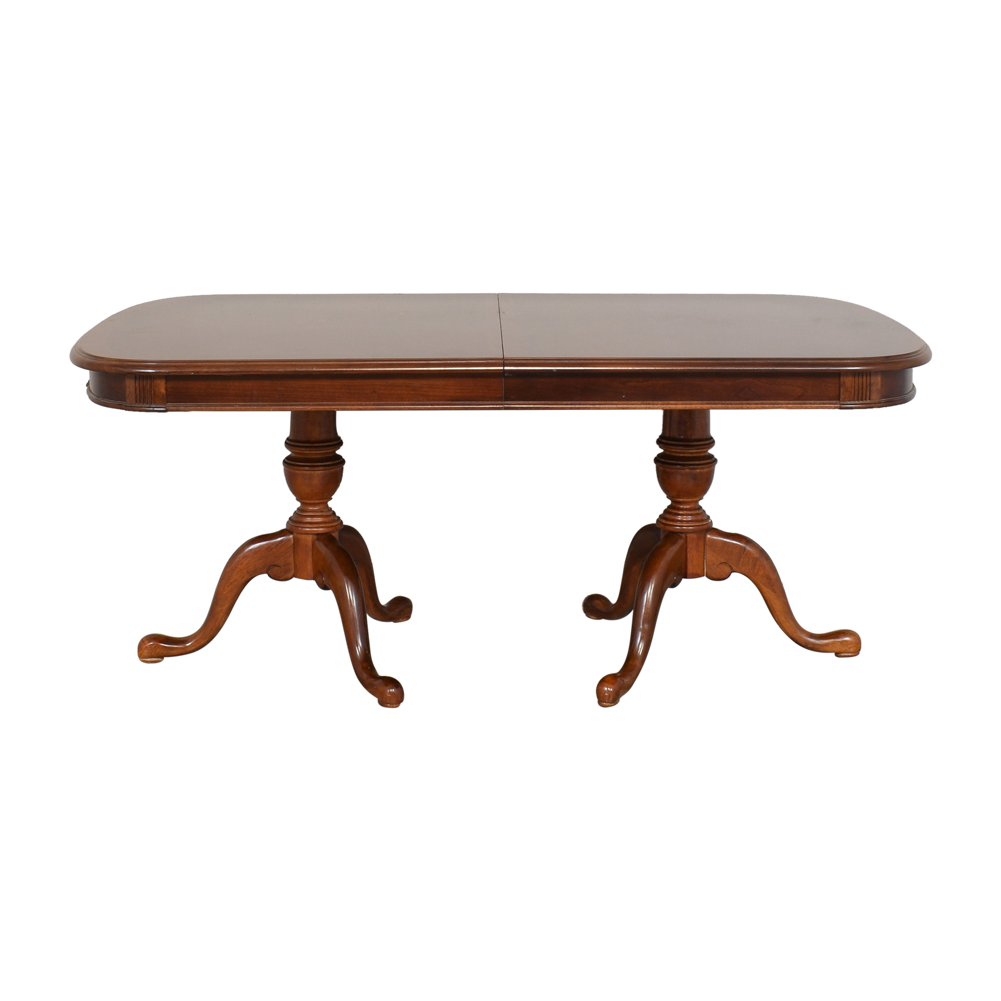 Universal Furniture Universal Furniture Double Pedestal Extending Dining Table nj