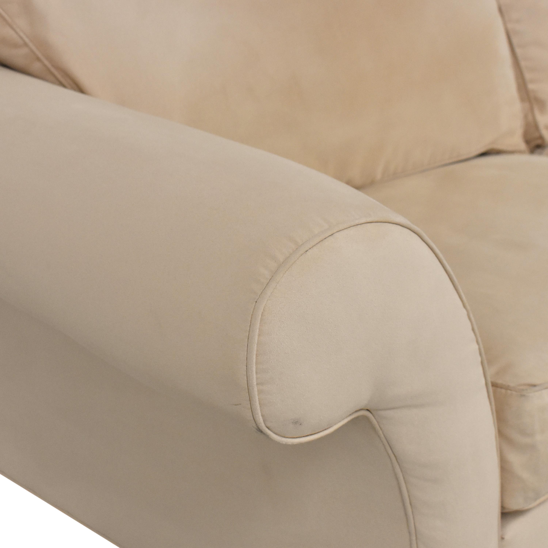 Ethan Allen Ethan Allen Roll Arm Sofa beige