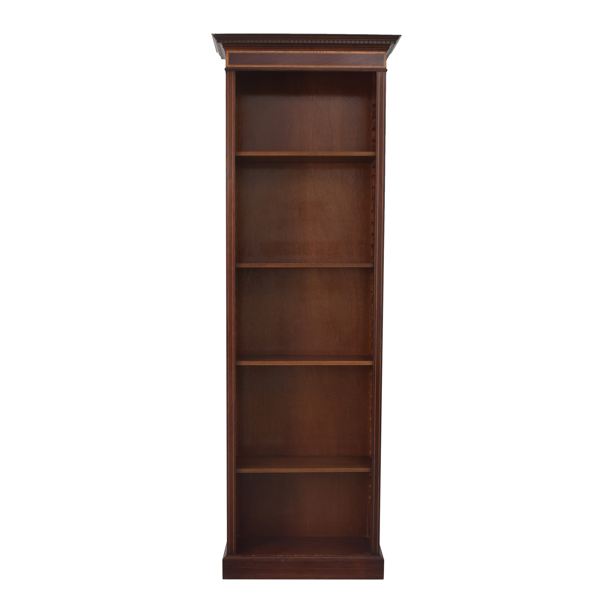 Empire-Style Antique Bookcase with Inlay Detail / Storage