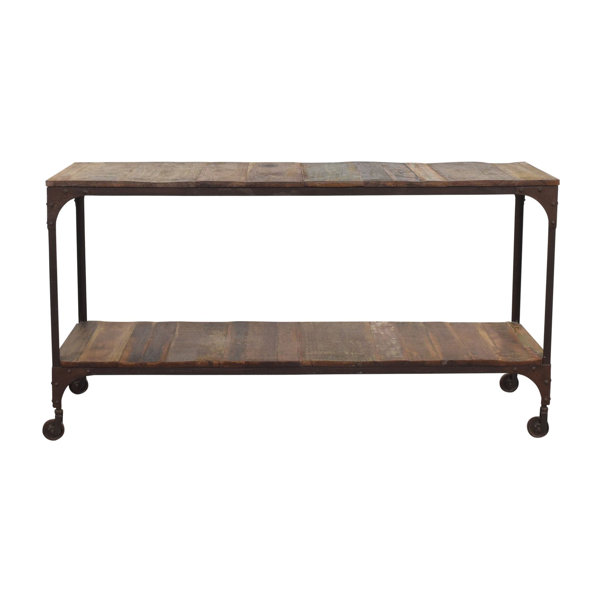 West Elm West Elm Rolling Console Table on sale