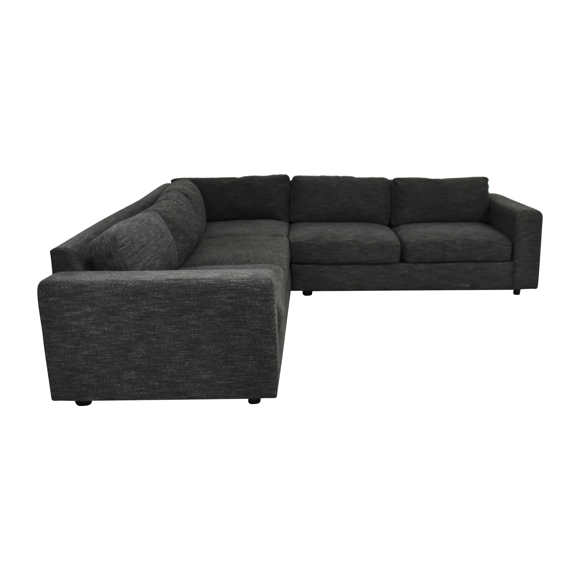 buy West Elm Urban Three Piece Sectional Sofa West Elm Sectionals