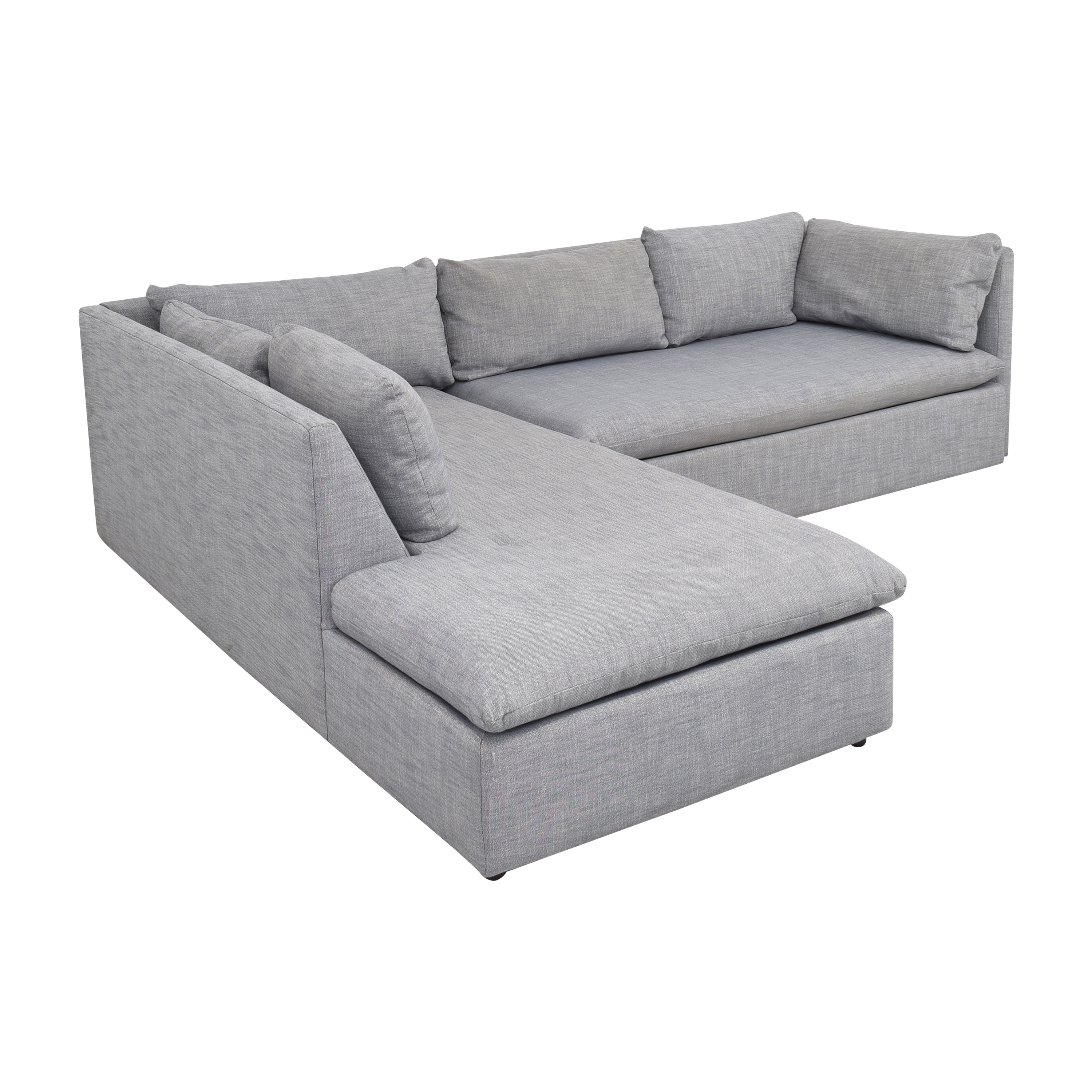 West Elm Shelter 2-Piece Terminal Chaise Sectional / Sofas