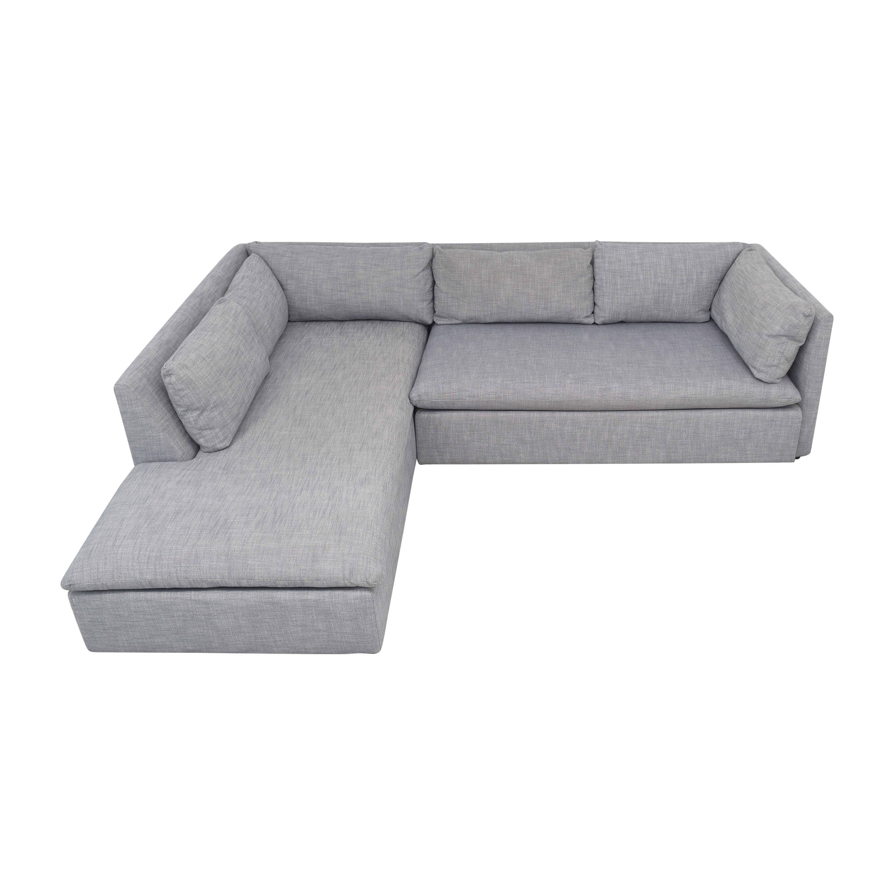 West Elm West Elm Shelter 2-Piece Terminal Chaise Sectional for sale