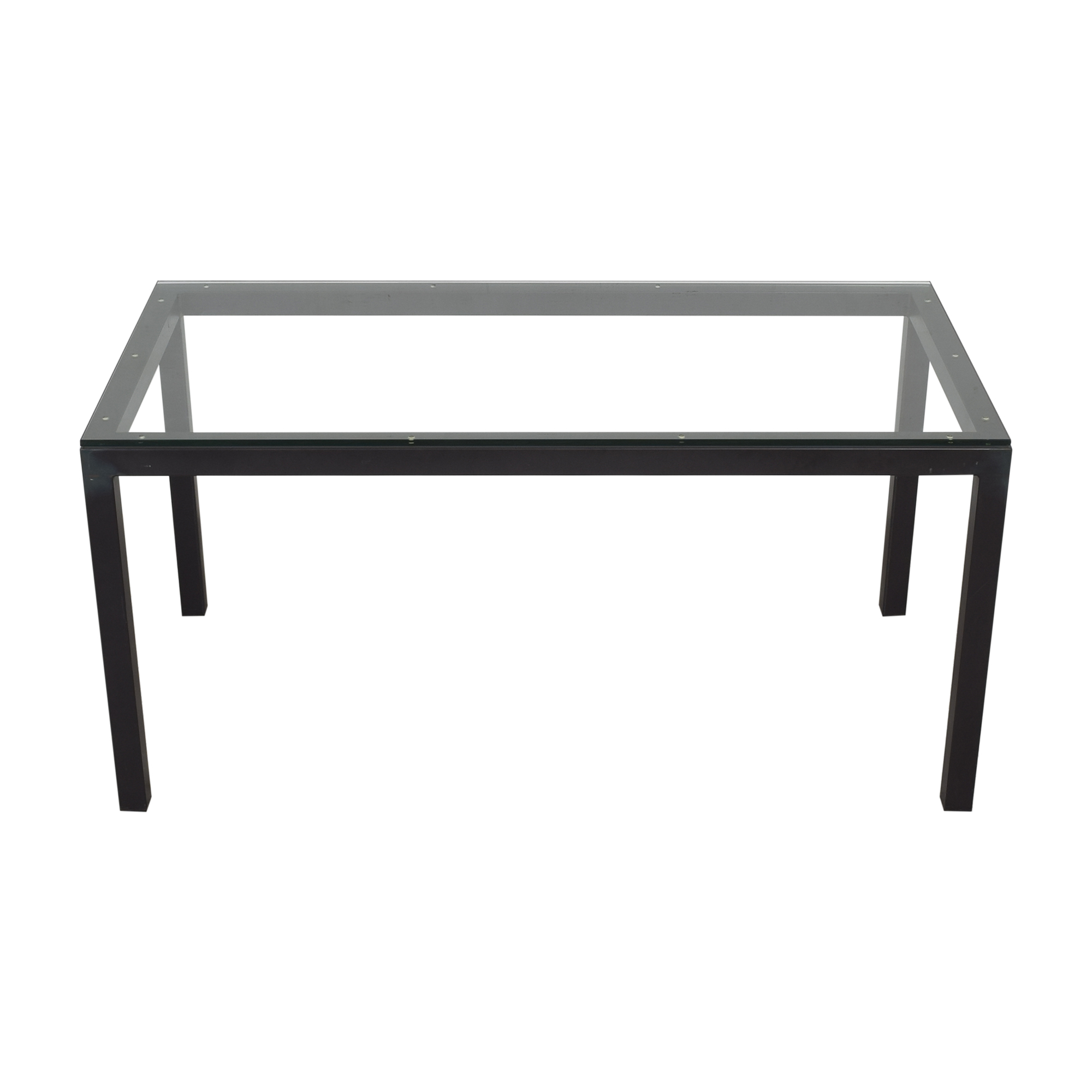 buy Room & Board Room & Board Parsons Desk with Transparent Surface online