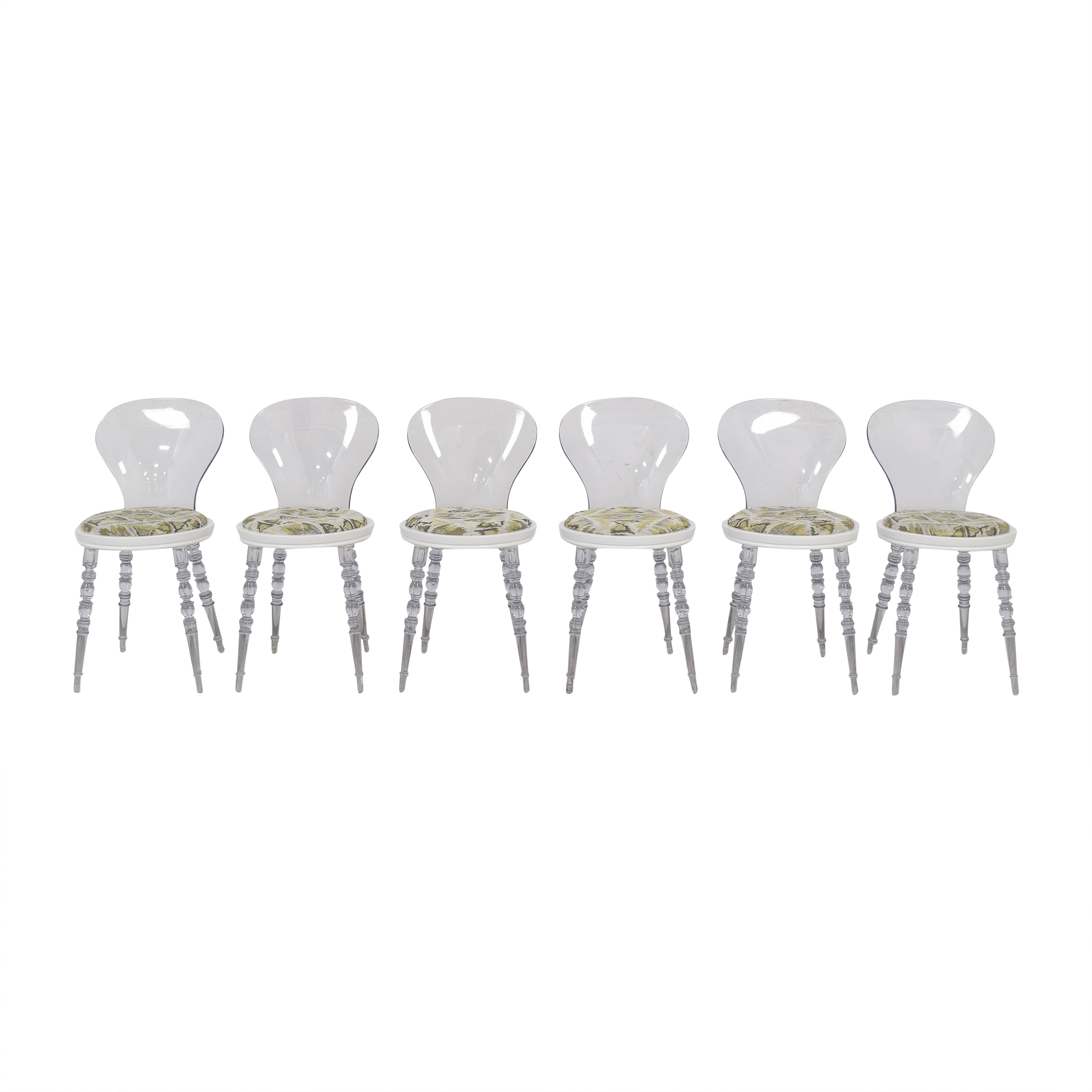 shop American Atelier Wynona Transparent Dining Chairs