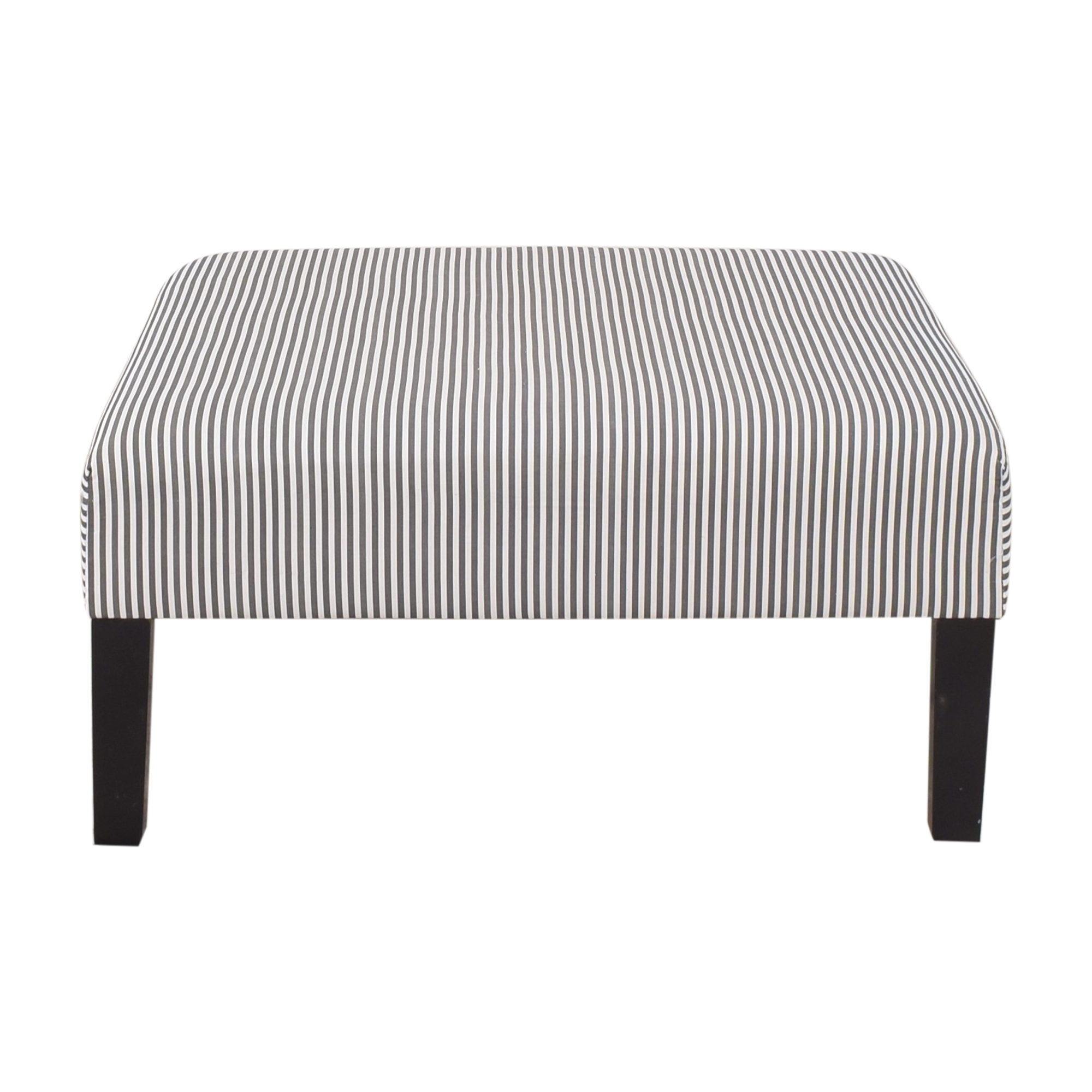 The Inside The Inside Ticking Stripe Cocktail Ottoman Chairs