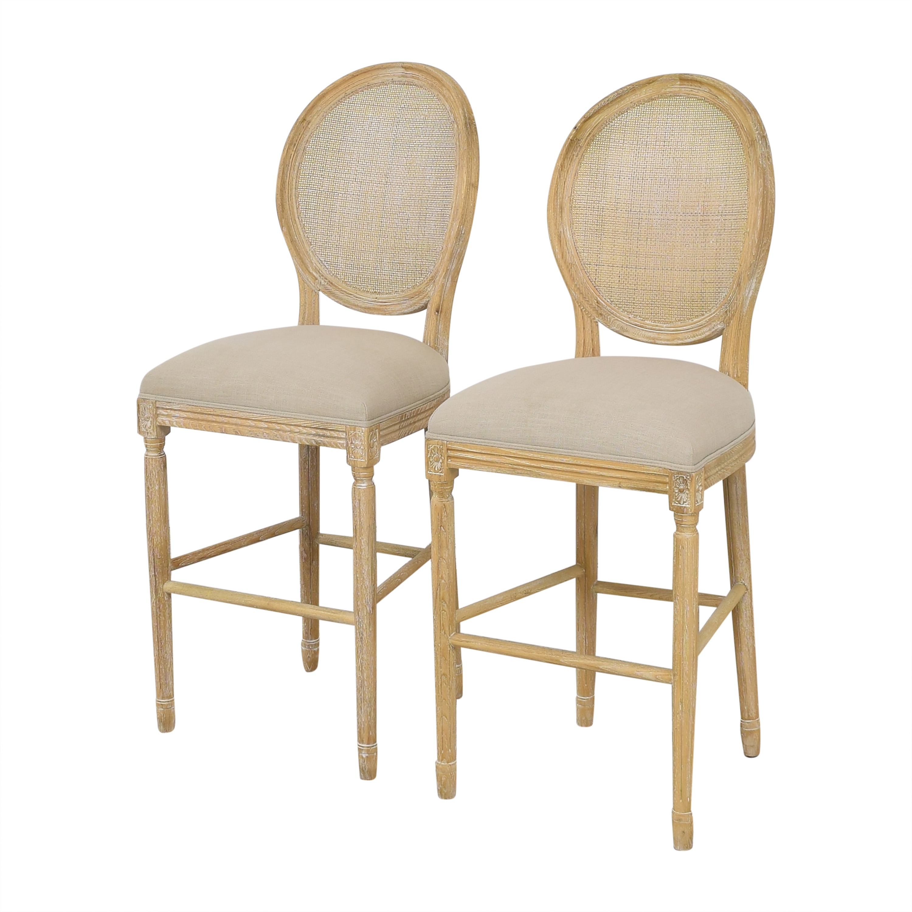 Wisteria Wisteria Upholstered Bar Stools nyc