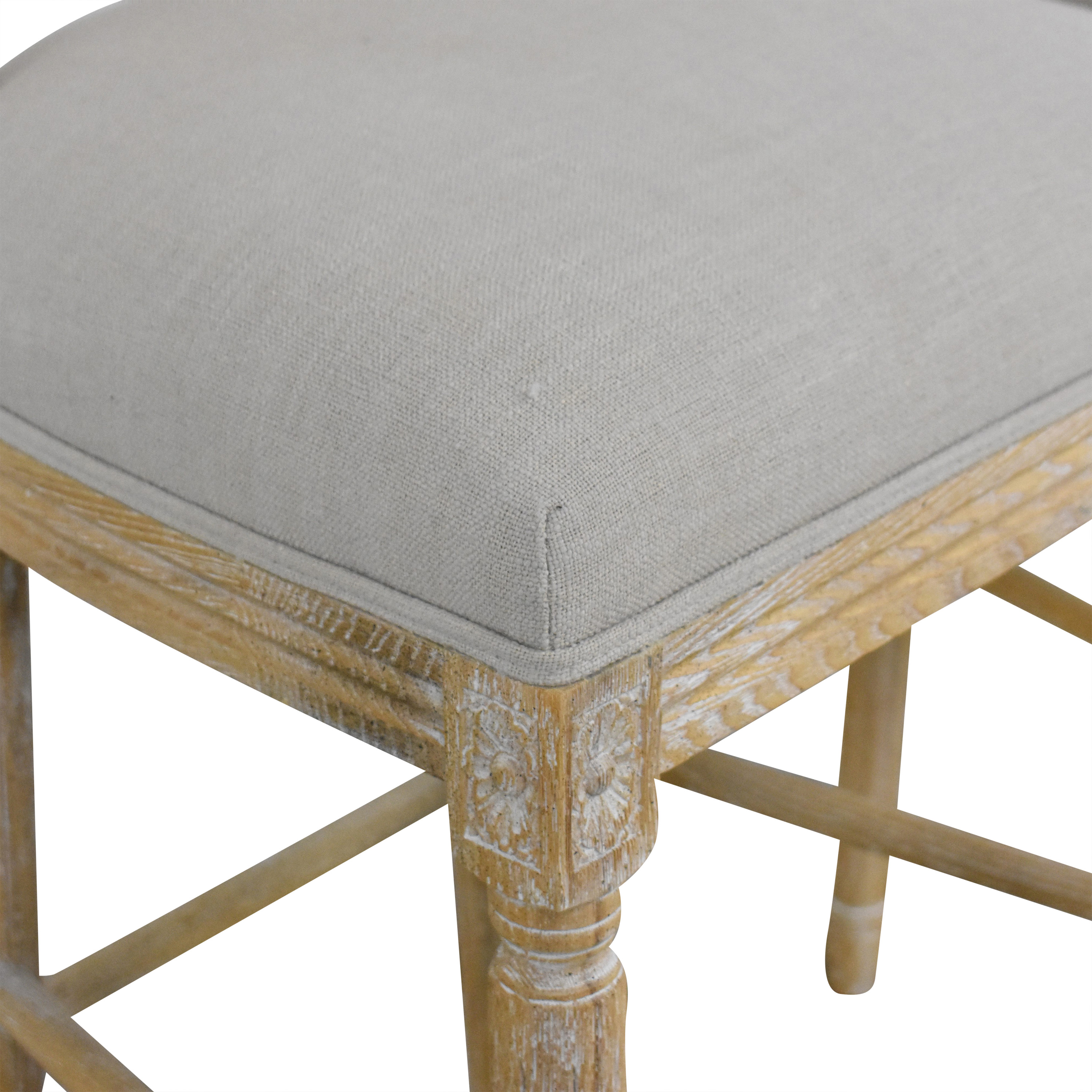 Wisteria Wisteria Upholstered Bar Stools dimensions