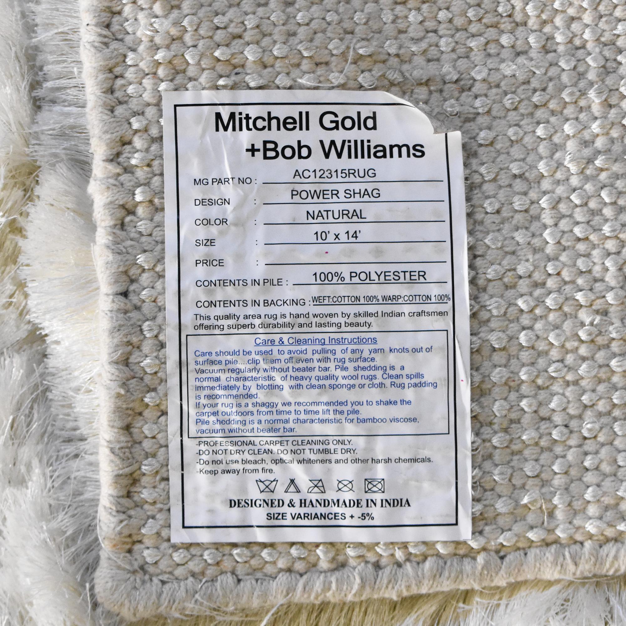Mitchell Gold + Bob Williams Power Shag Natural Rug Mitchell Gold + Bob Williams