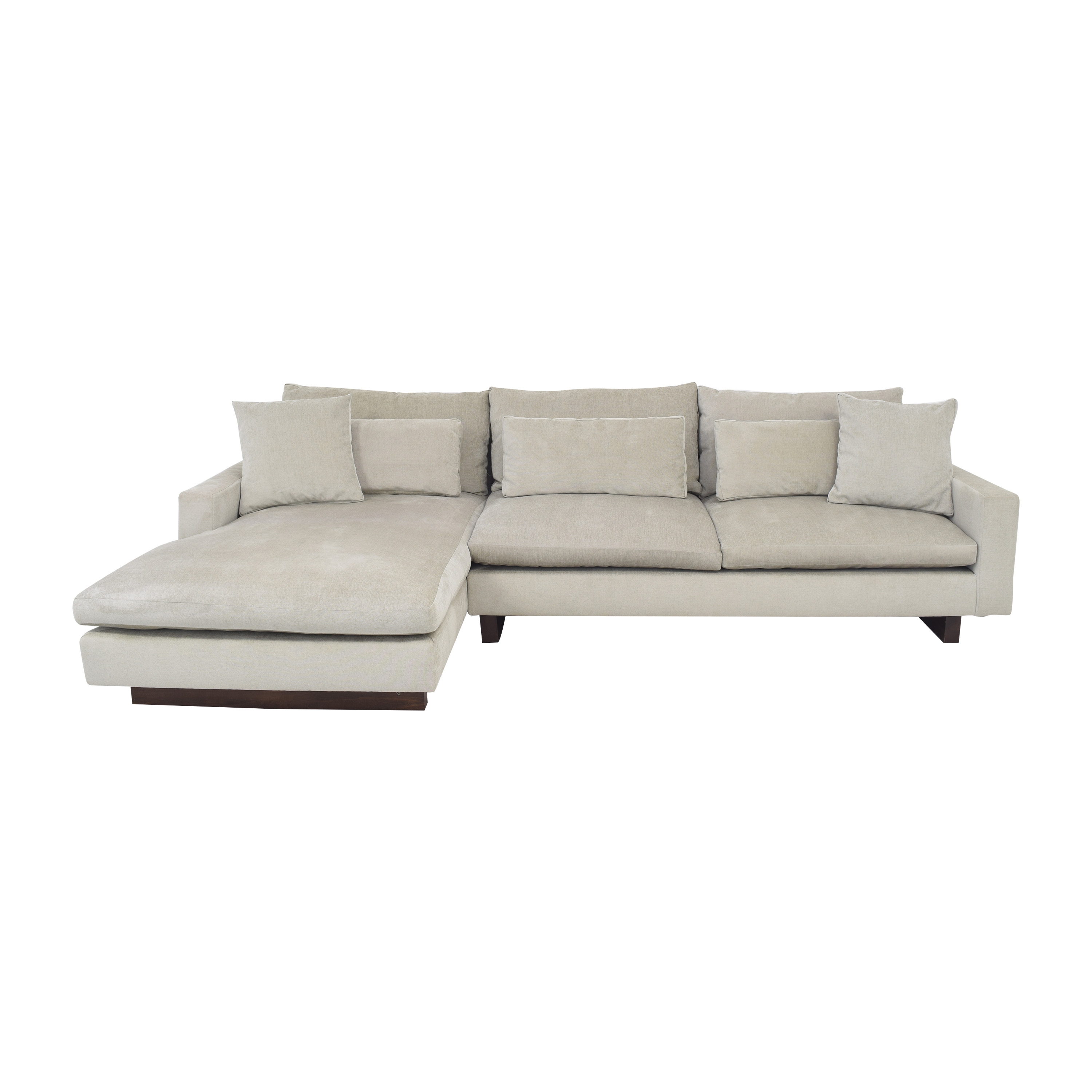 shop West Elm Harmony Chaise Sectional Sofa West Elm Sectionals