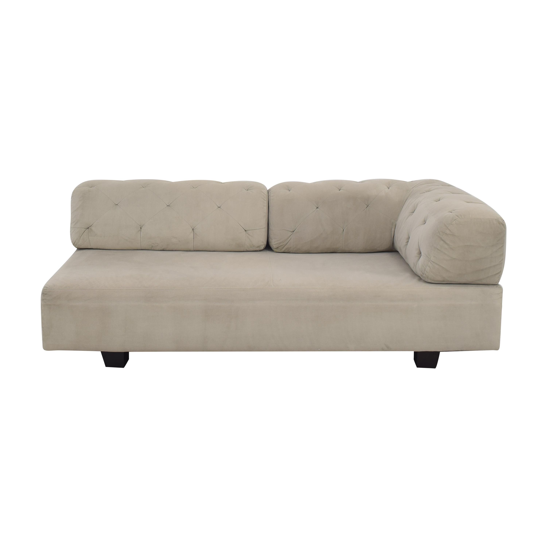 buy West Elm Tillary Tufted Right Arm Section Sofa West Elm