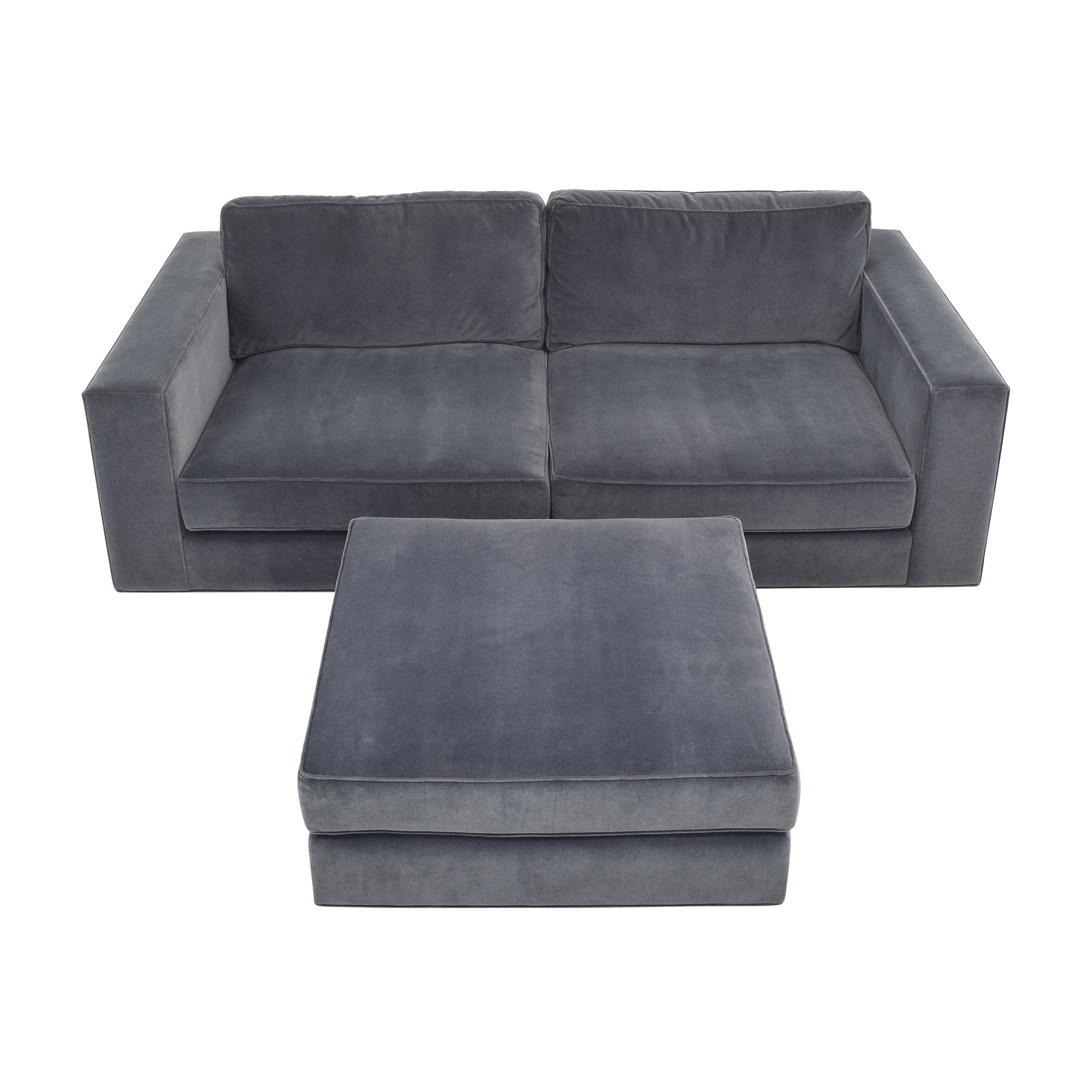 Restoration Hardware Restoration Hardware Maddox Sectional Sofa with Ottoman dark blue