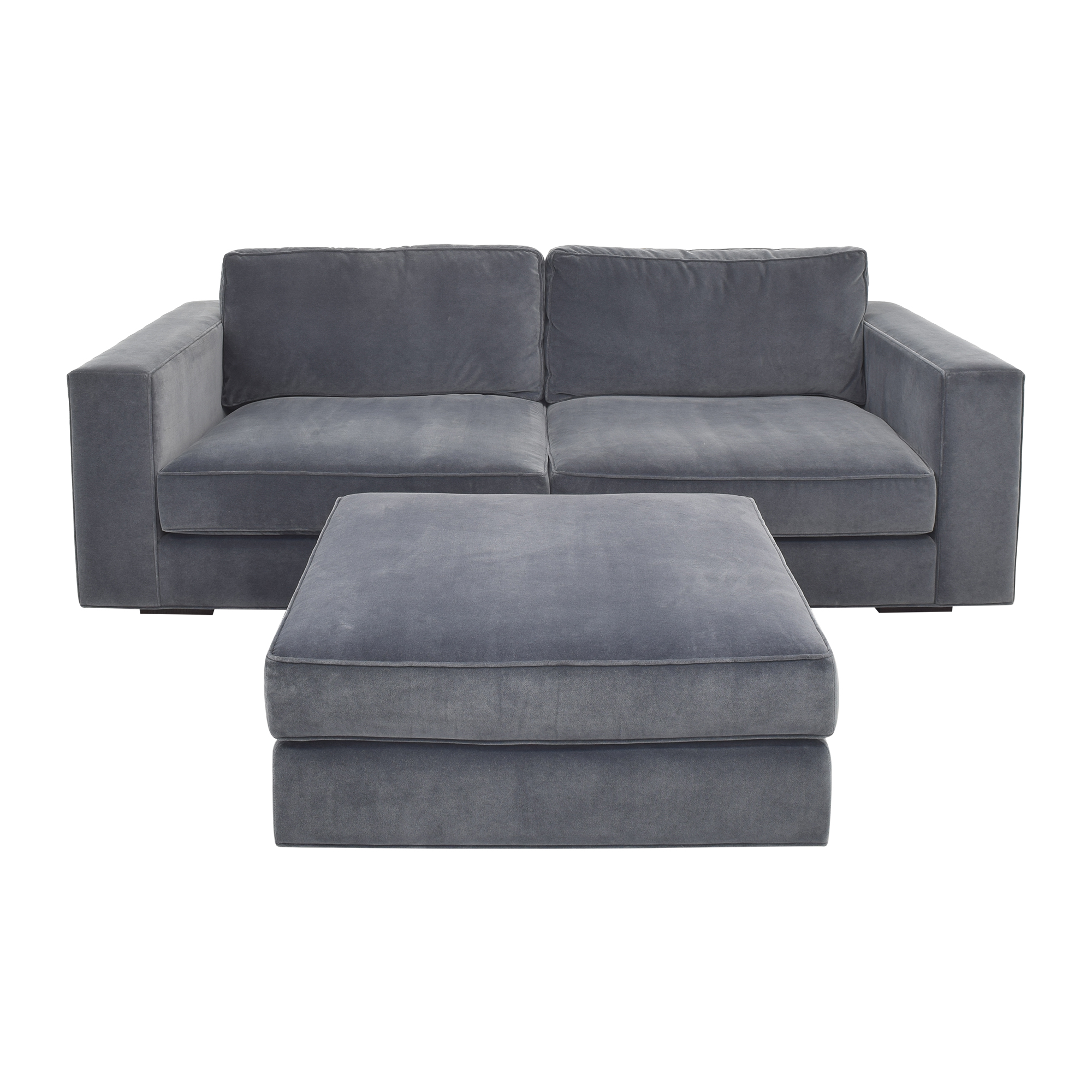shop Restoration Hardware Maddox Sectional Sofa with Ottoman Restoration Hardware Sectionals