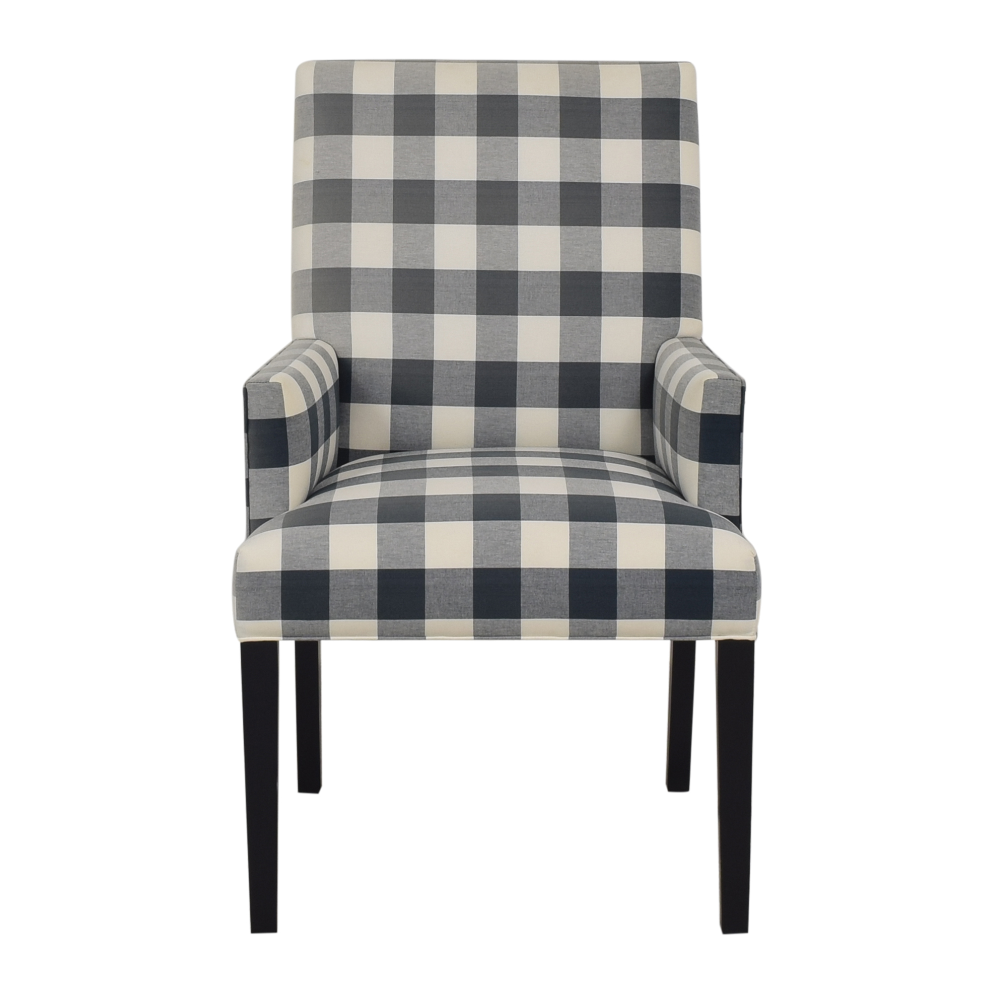 shop Ethan Allen Thomas Plaid Arm Chair Ethan Allen