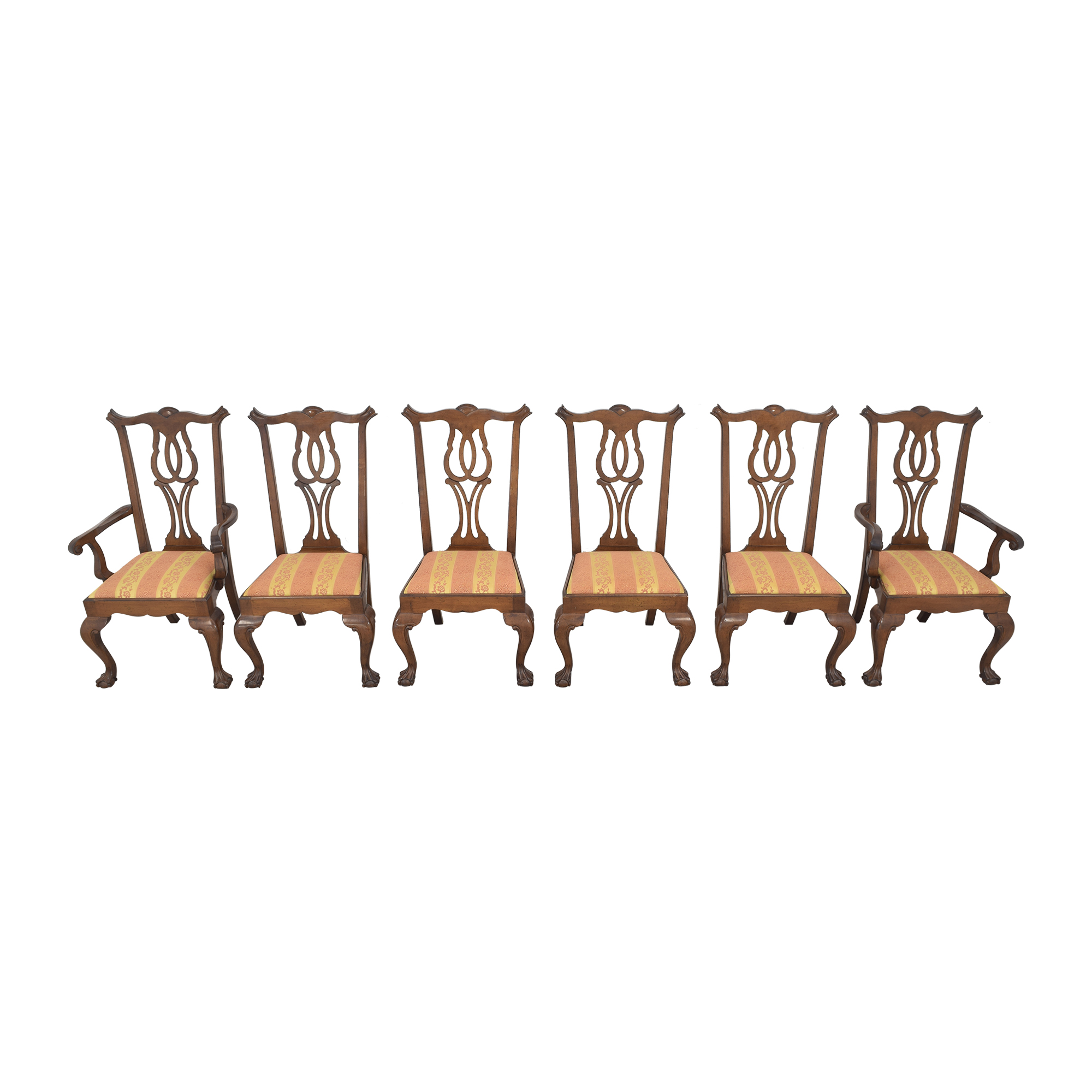 Fancher Furniture Fancher Furniture Chippendale Dining Chairs used
