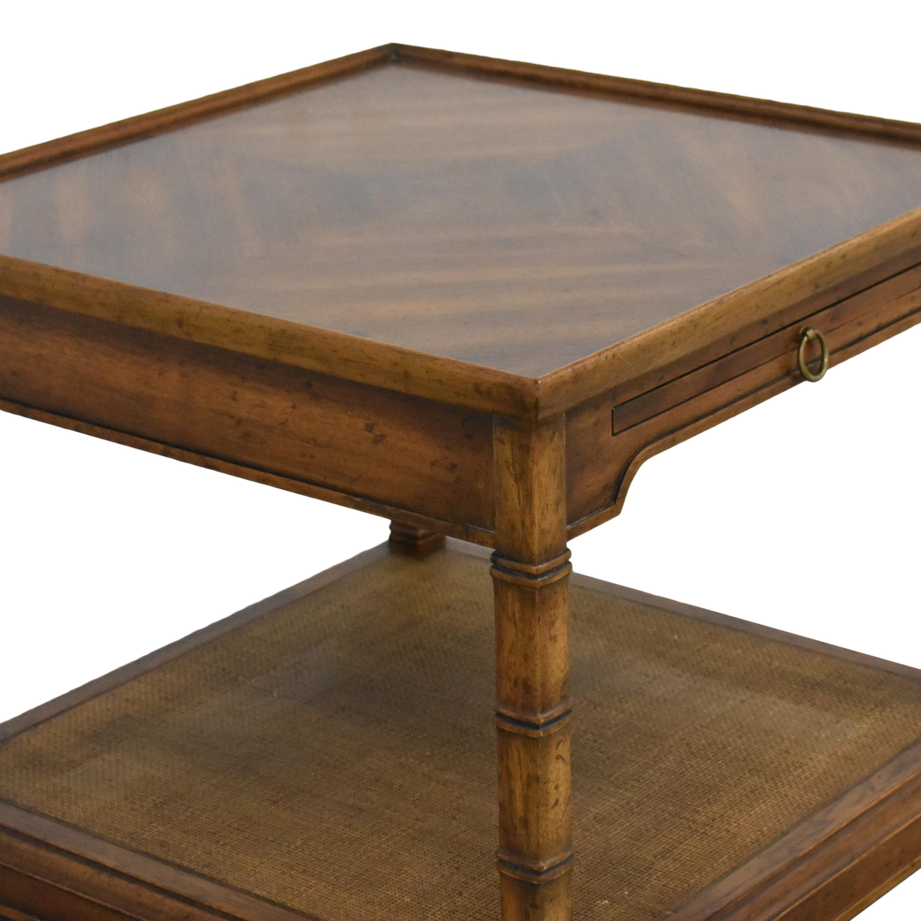 Heritage Heritage End Table with Desk Extension dimensions