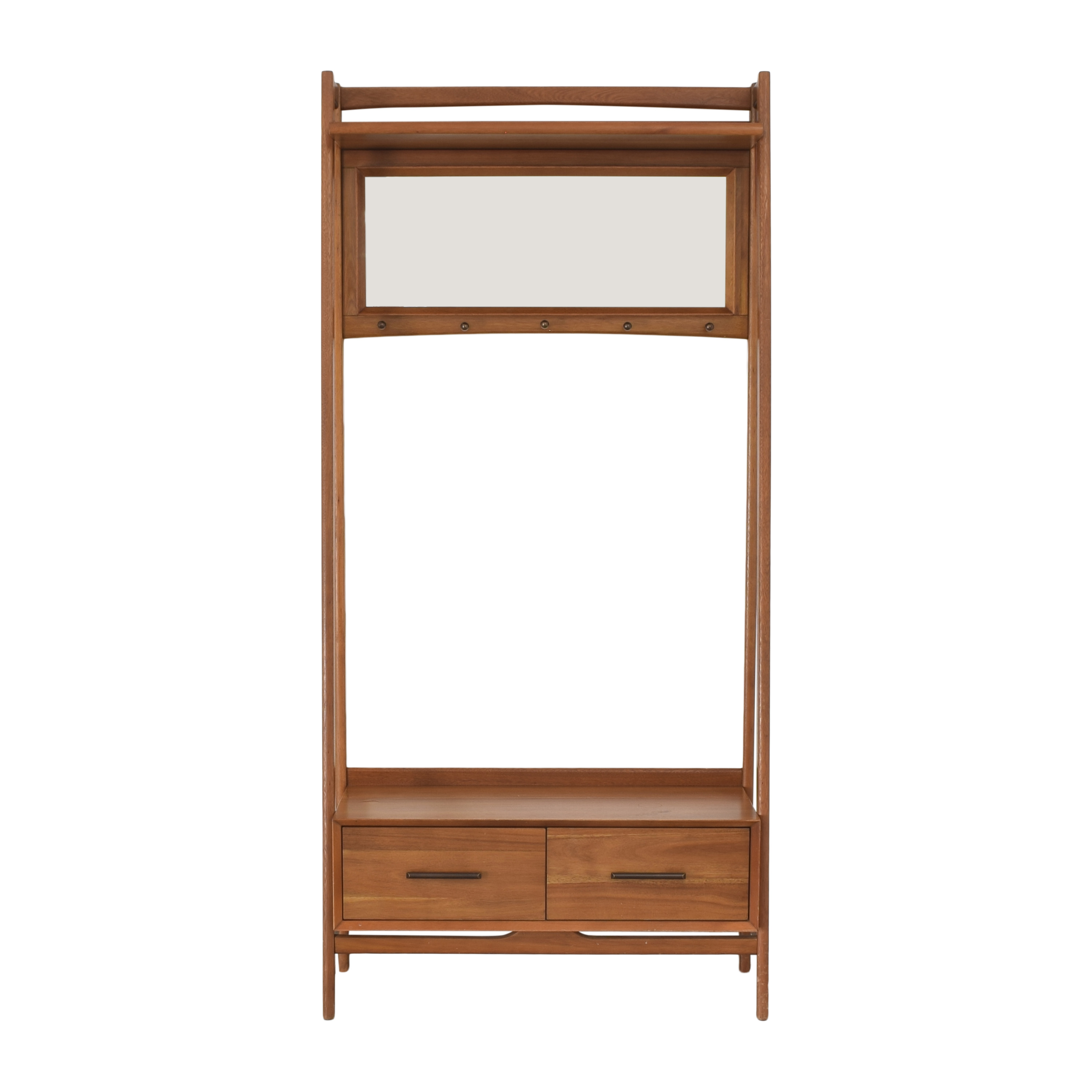 West Elm West Elm Mid-Century Hall Stand Entryway Bench brown