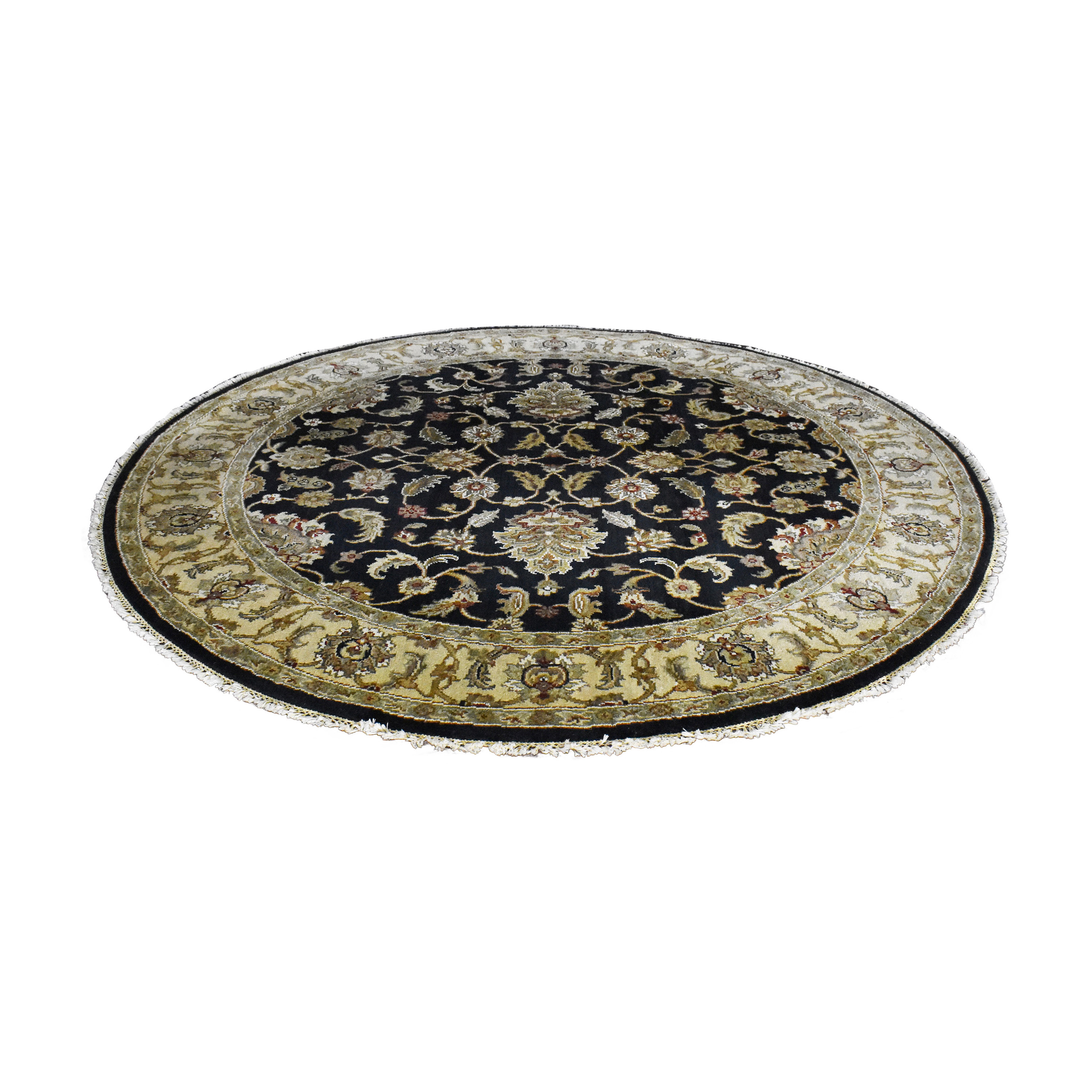 buy Round Patterned Area Rug  Decor