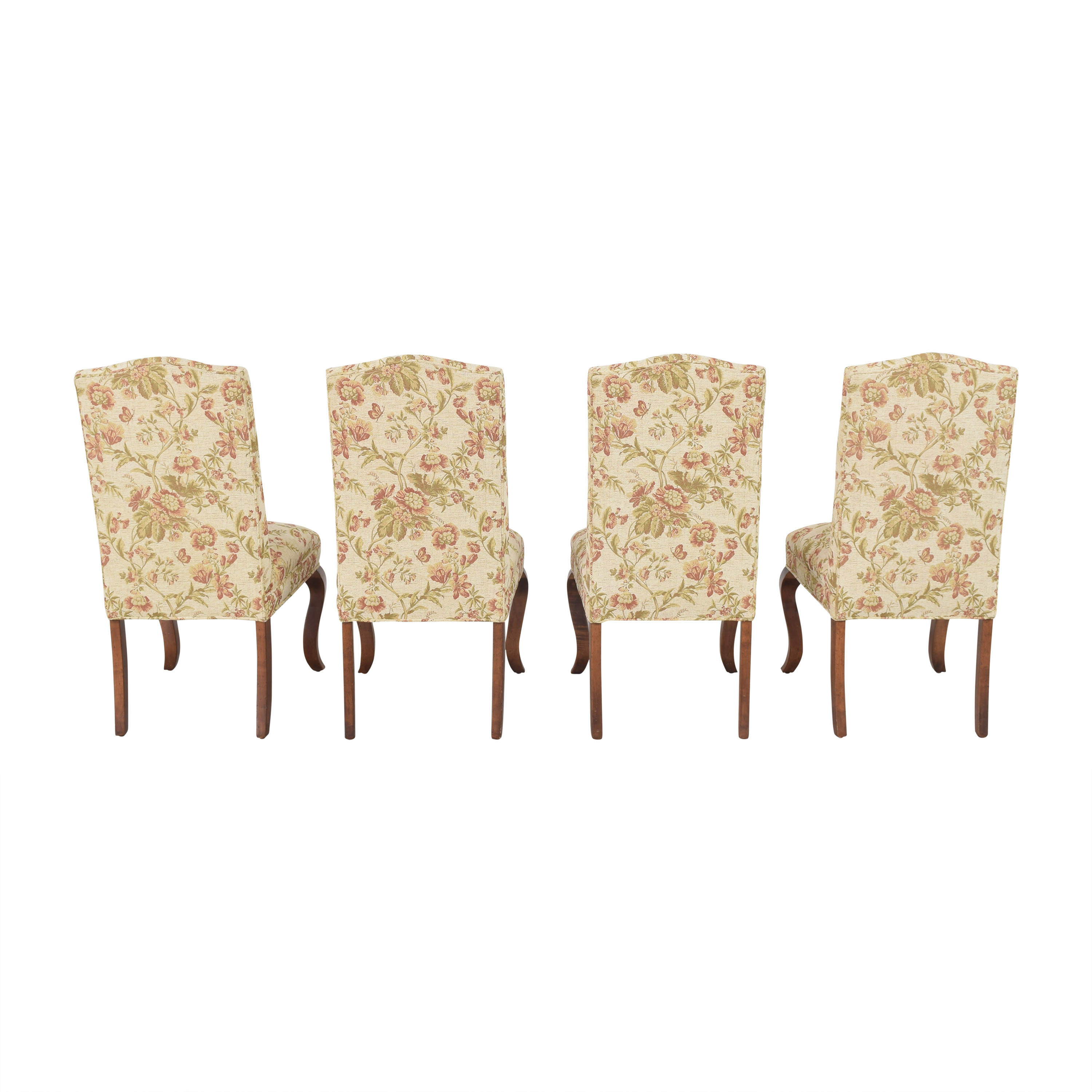 Queen Anne Upholstered Dining Chairs / Chairs