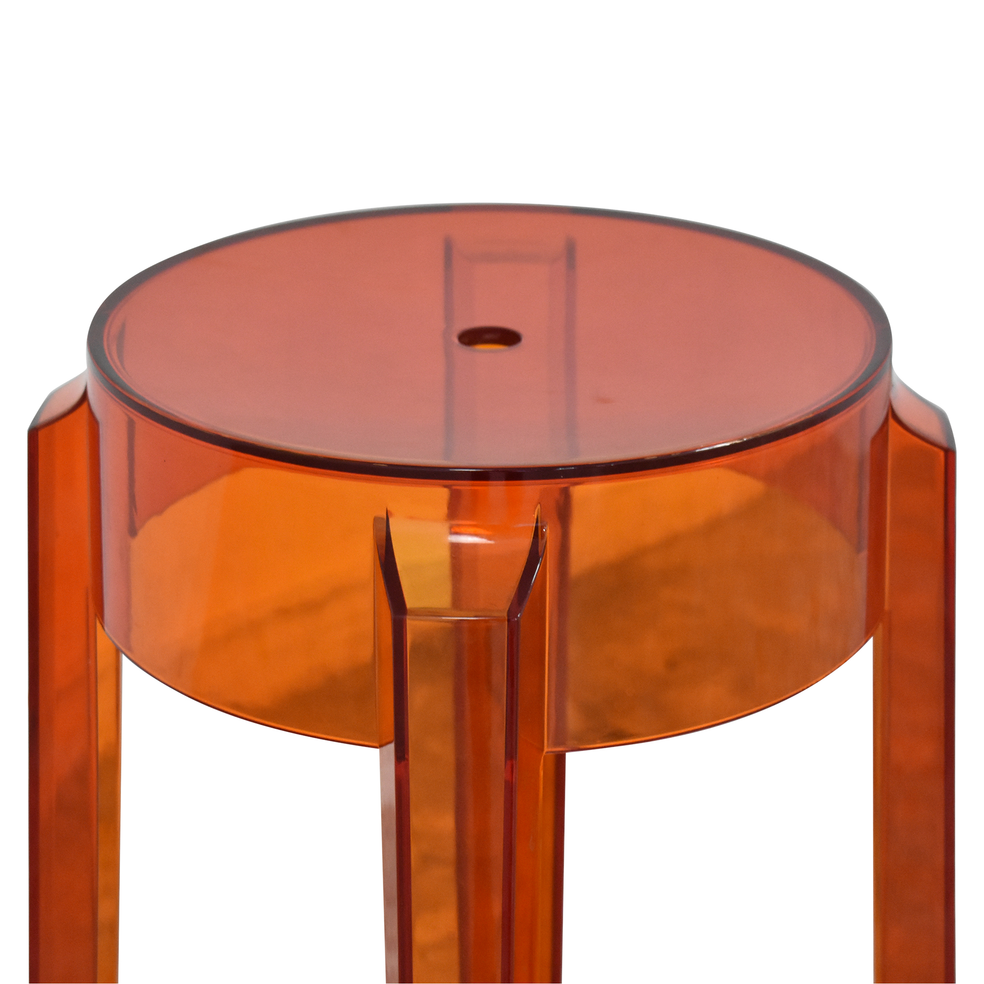 shop Kartell Charles Ghost Stool by Phillipe Starck Kartell Stools