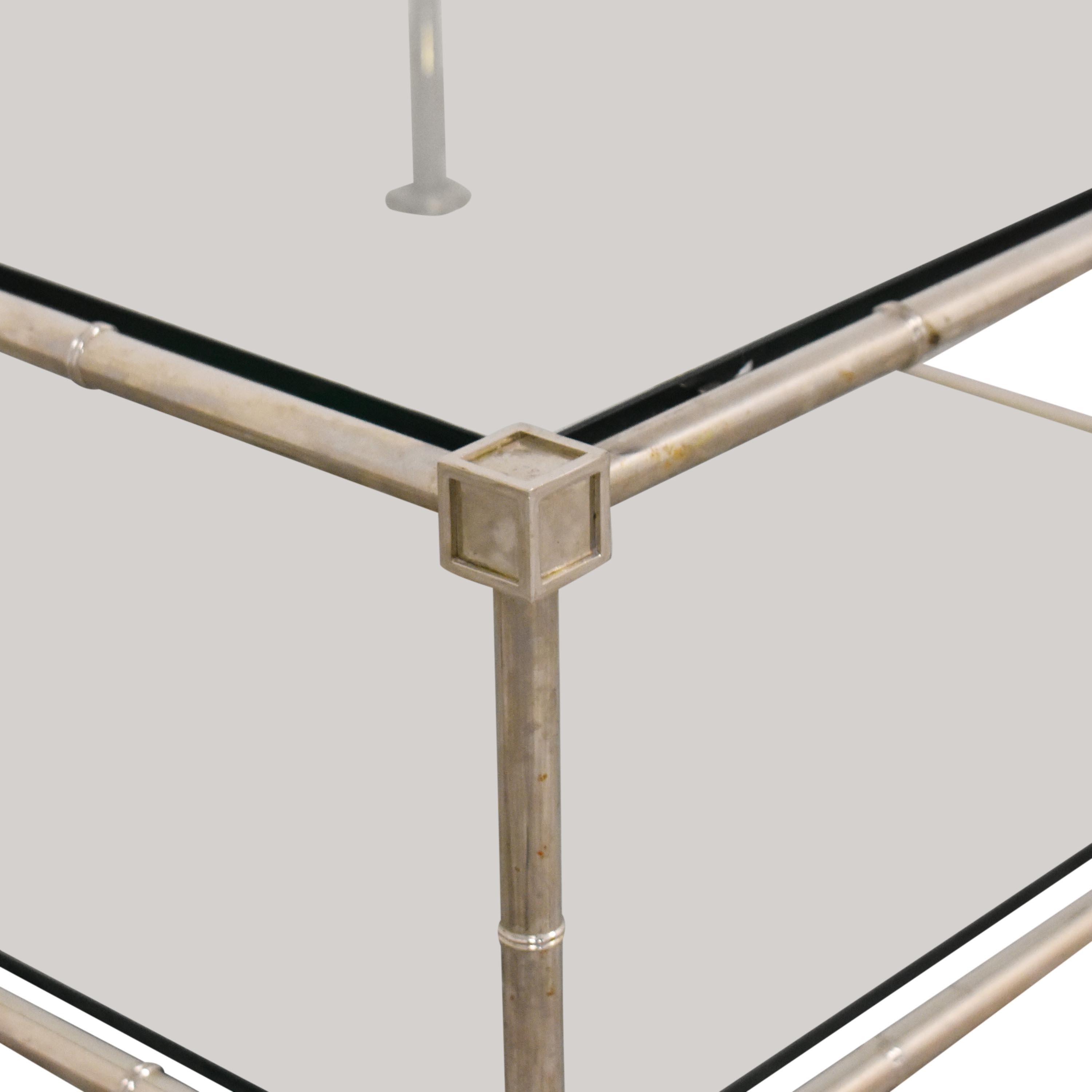 73 Off Jonathan Adler Jonathan Adler Coffee Table With Transparent Surface Tables