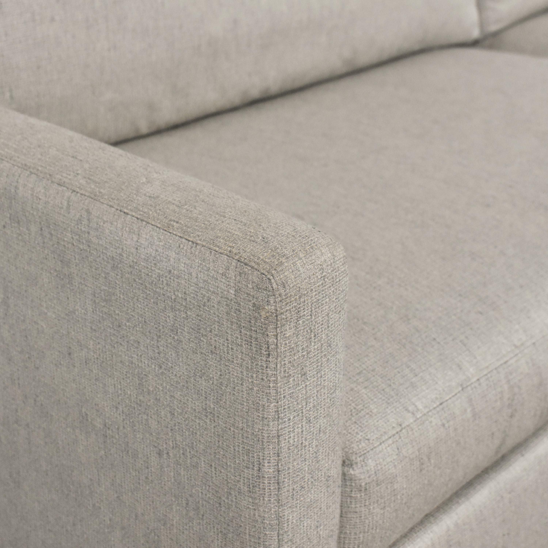 shop Ethan Allen Two Cushion Modern Sofa Ethan Allen