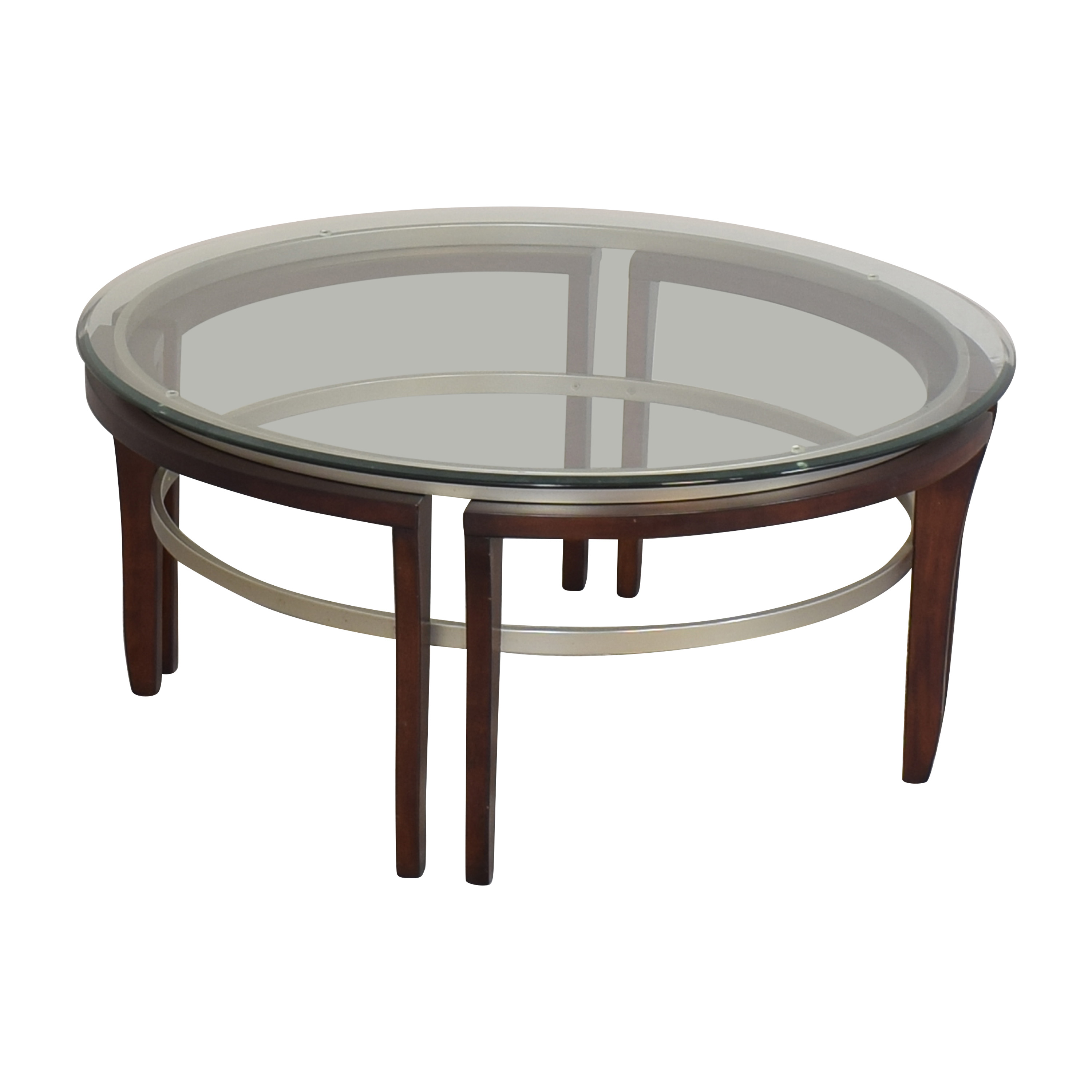 Macy's Macy's Fusion Round Coffee Table used