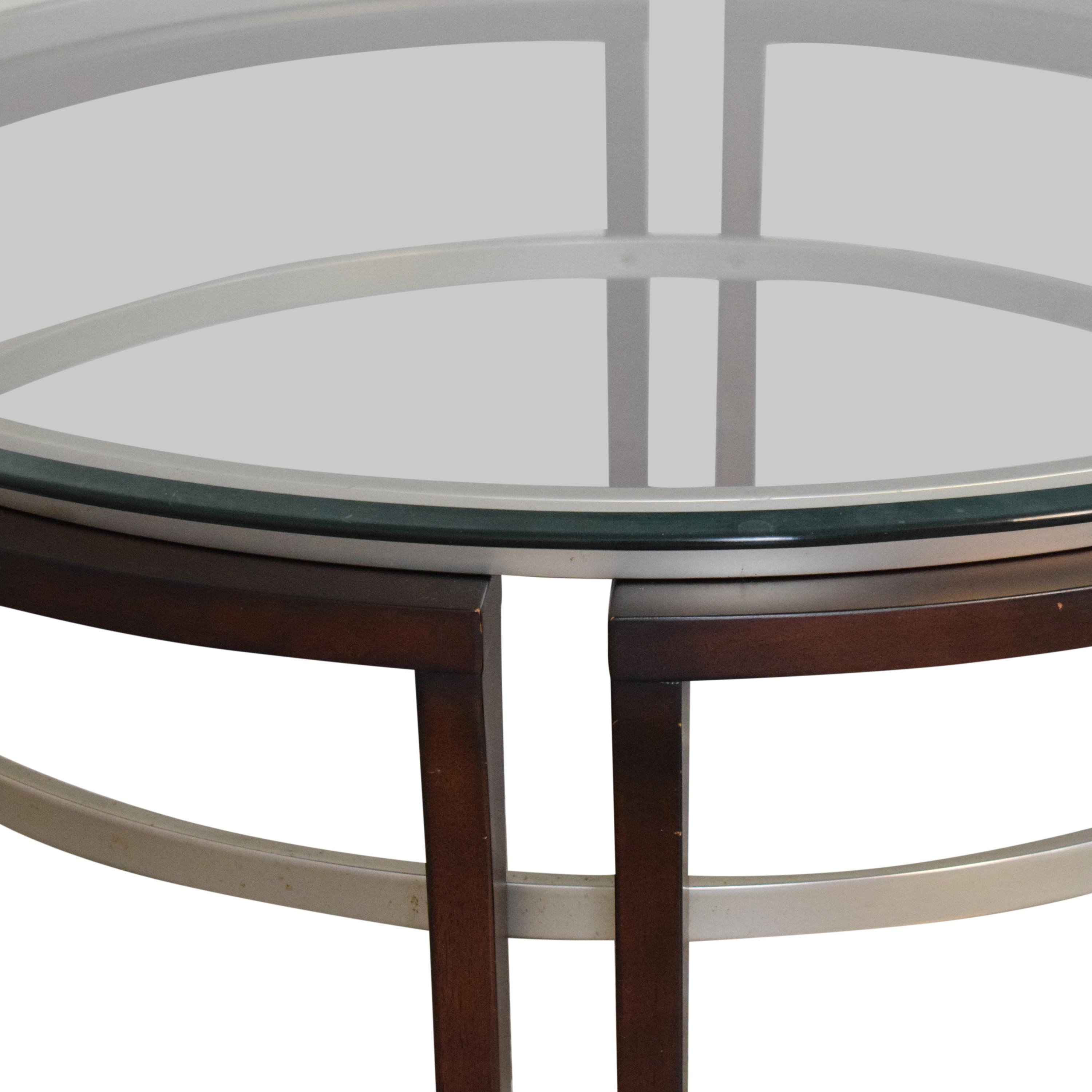 Macy's Fusion Round Coffee Table / Tables