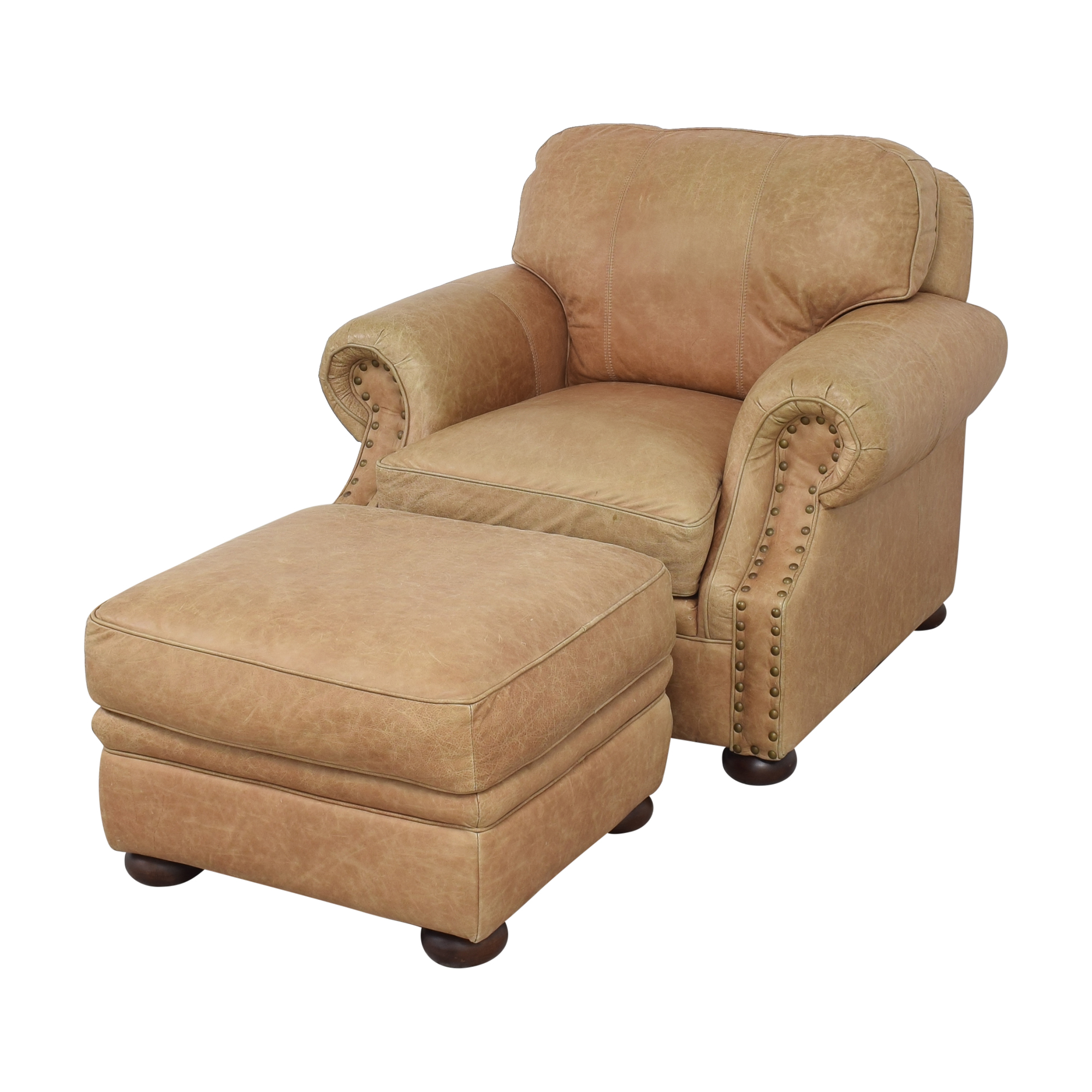 buy Ethan Allen Roll Arm Chair with Ottoman Ethan Allen Chairs