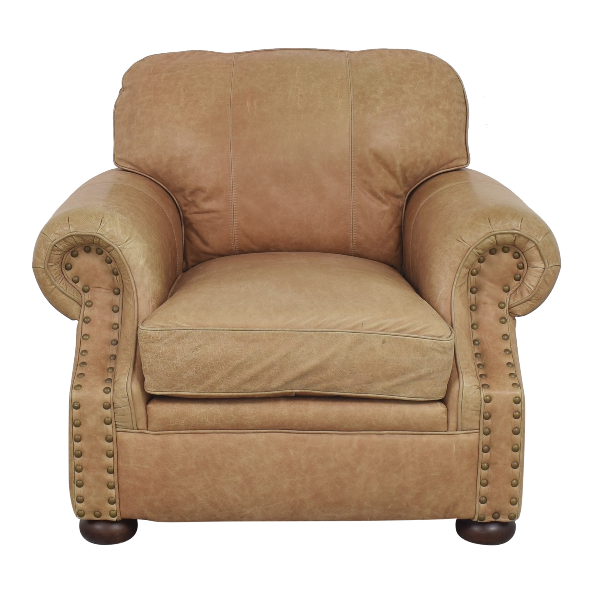 Ethan Allen Ethan Allen Roll Arm Chair with Ottoman used