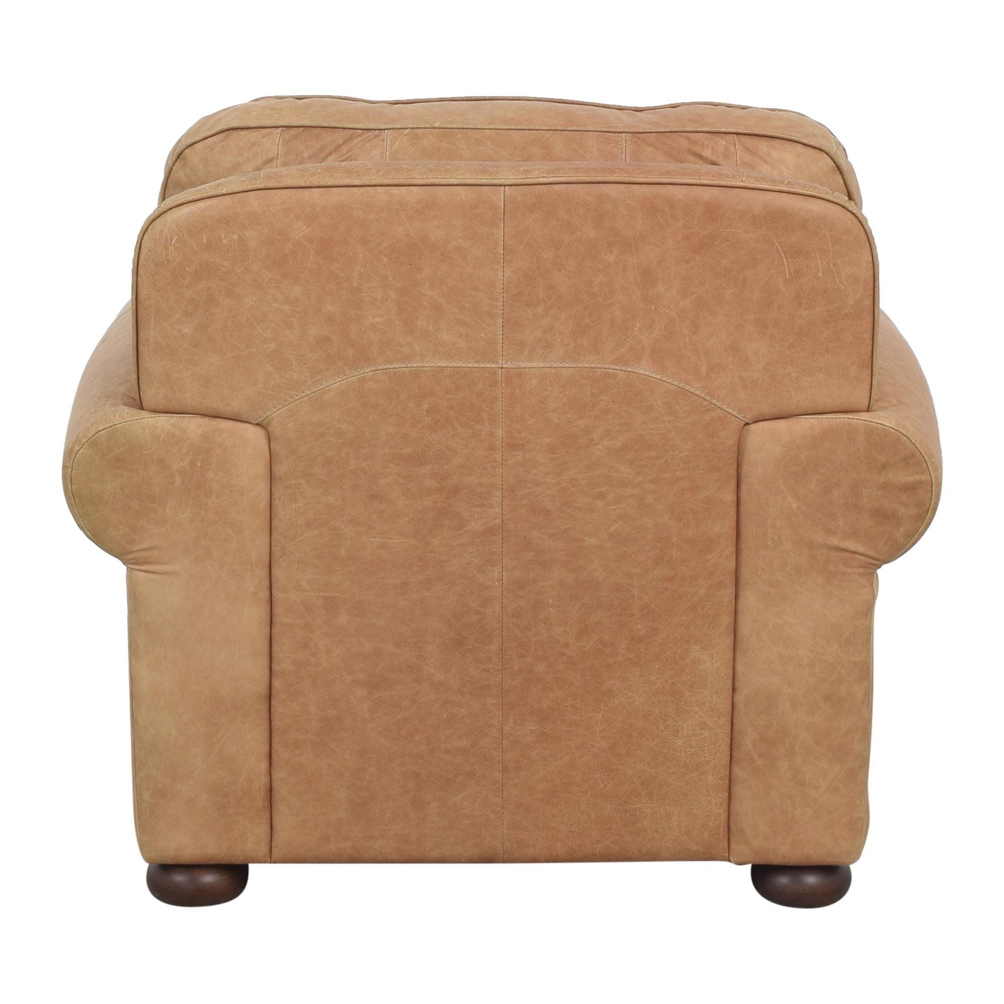 Ethan Allen Ethan Allen Roll Arm Chair with Ottoman dimensions