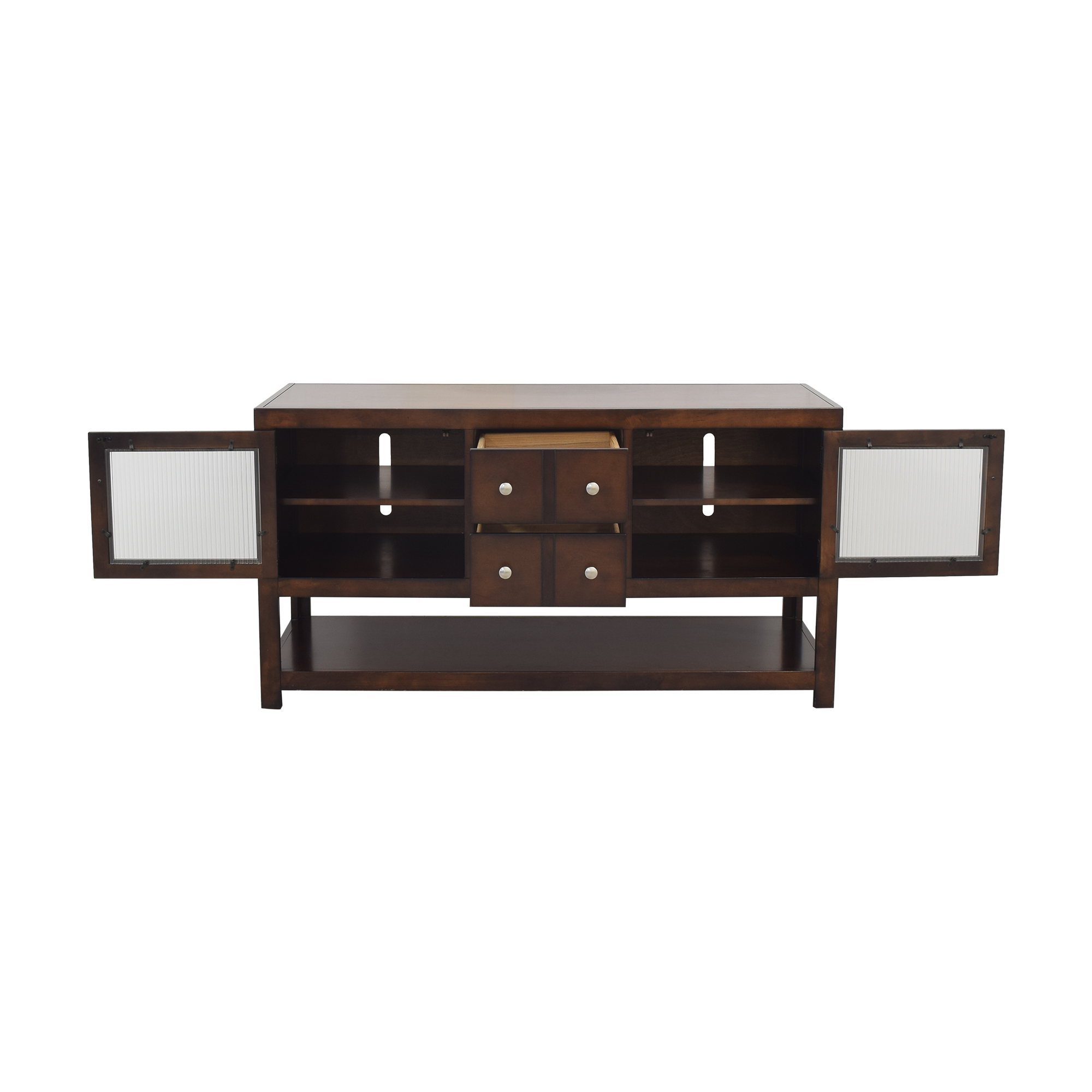 Raymour & Flanigan Raymour and Flanigan Media Console with Cabinets Storage
