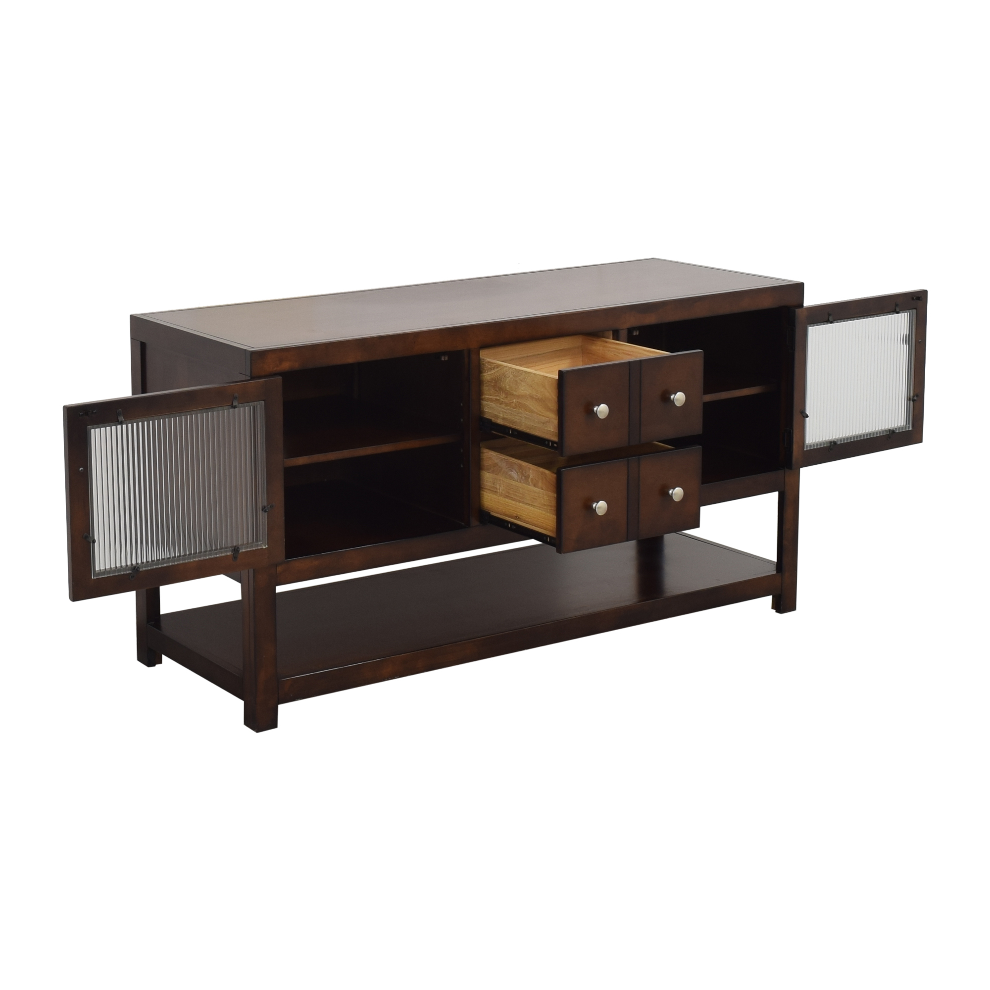 Raymour & Flanigan Raymour and Flanigan Media Console with Cabinets on sale