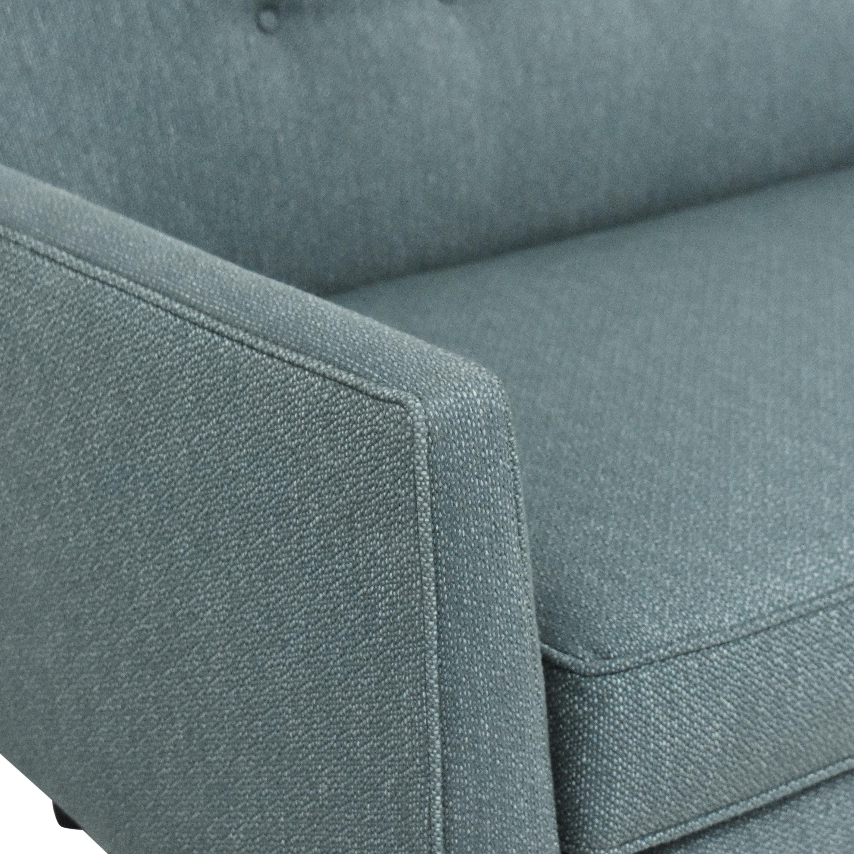 Crate & Barrel Gia Button Tufted Sofa sale
