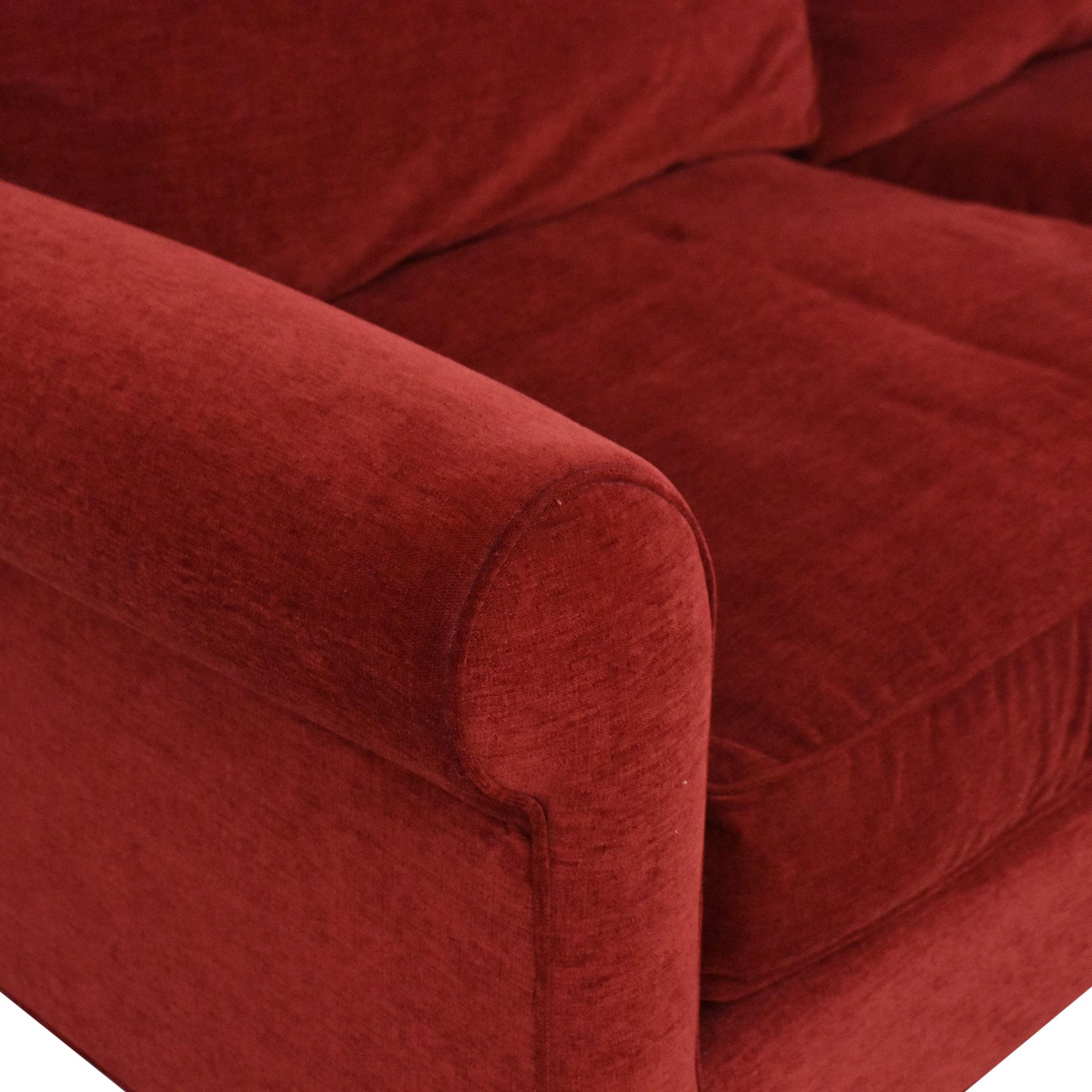 Lillian August Lillian August Roll Arm Sofa red