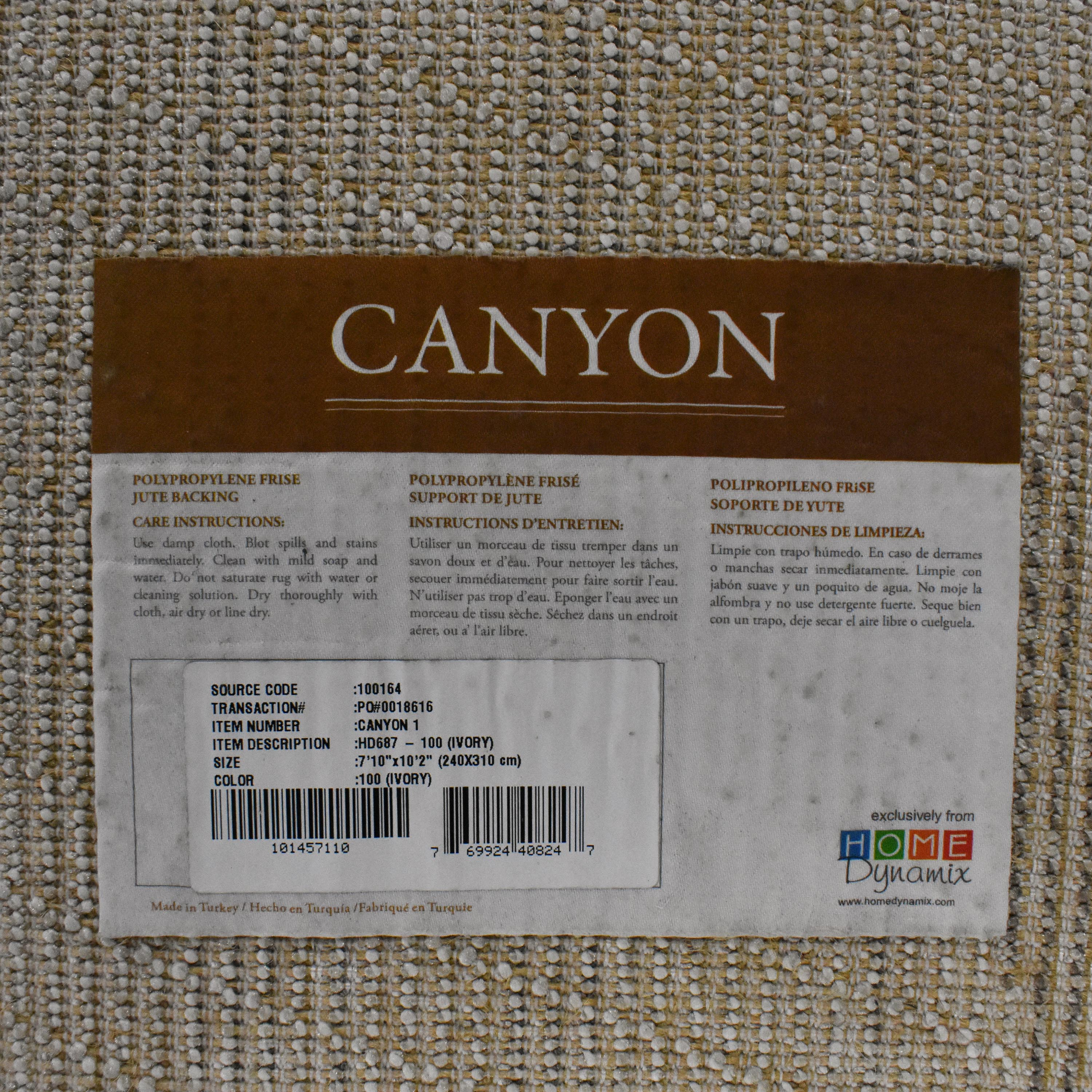 Canyon Furniture Canyon Furniture Patterned Area Rug ma