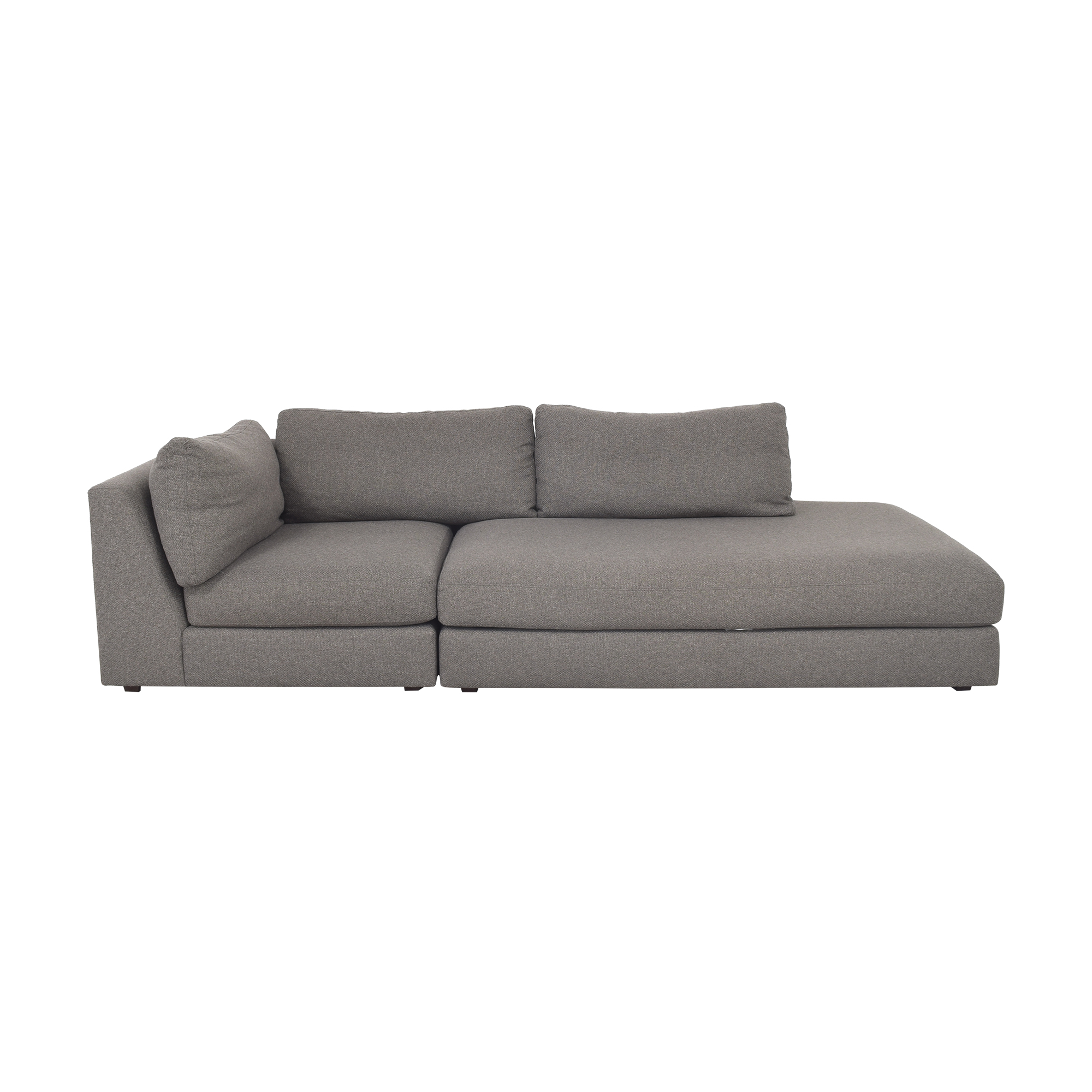 shop Crate & Barrel Two Piece Sectional Sofa Crate & Barrel Sectionals