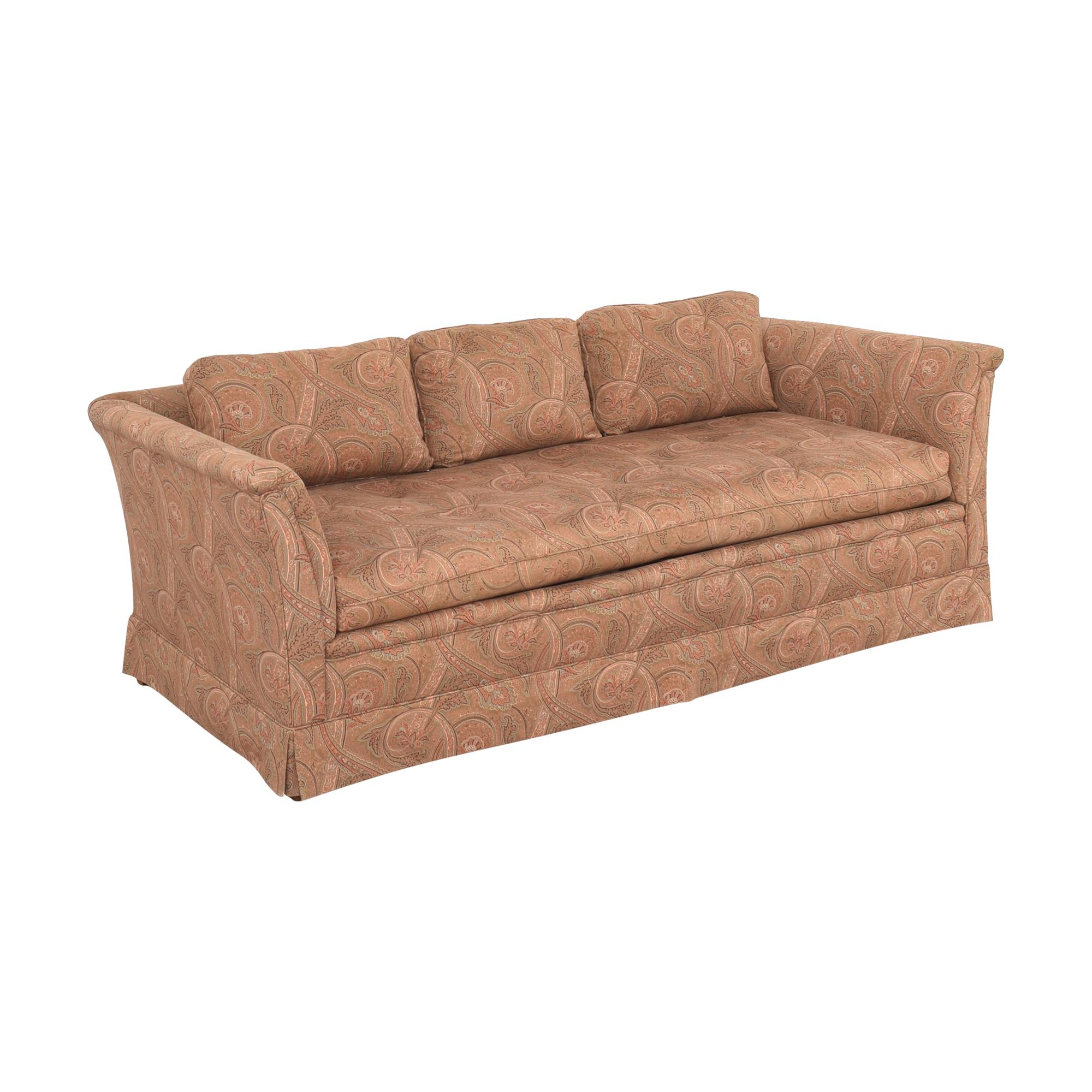 Bloomingdale's Paisley Bench Cushion Sofa sale