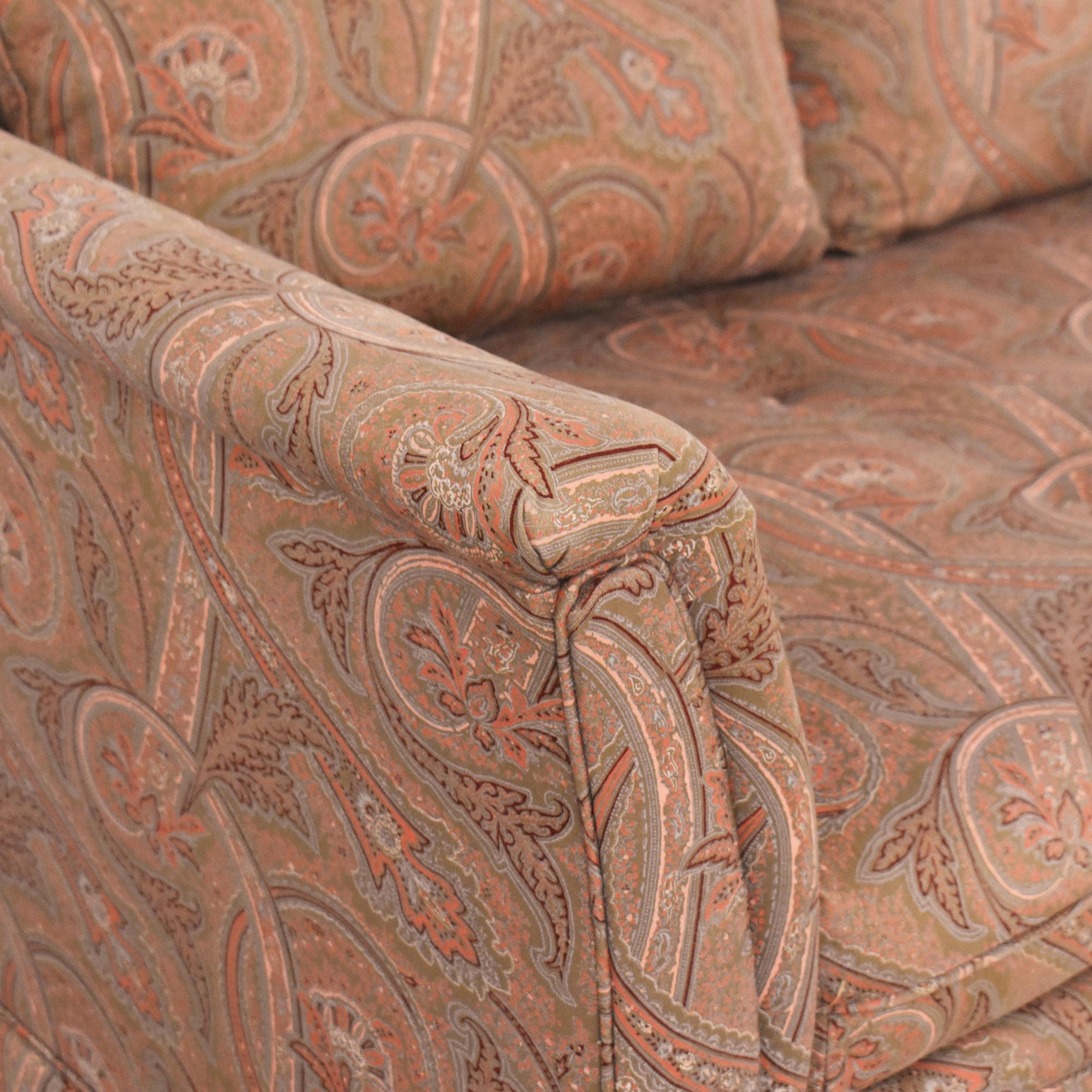 Bloomingdale's Bloomingdale's Paisley Bench Cushion Sofa ct