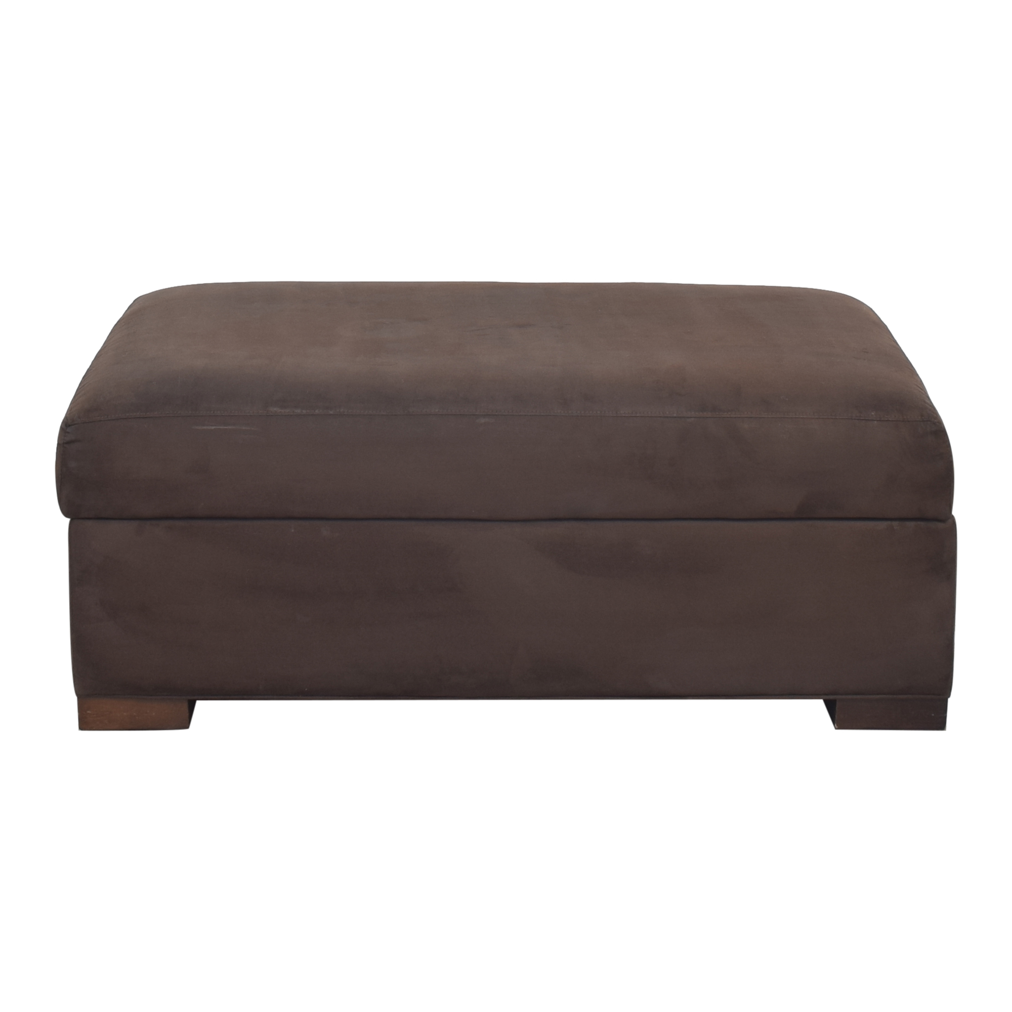 Crate & Barrel Crate & Barrel Axis II Ottoman and a Half Storage
