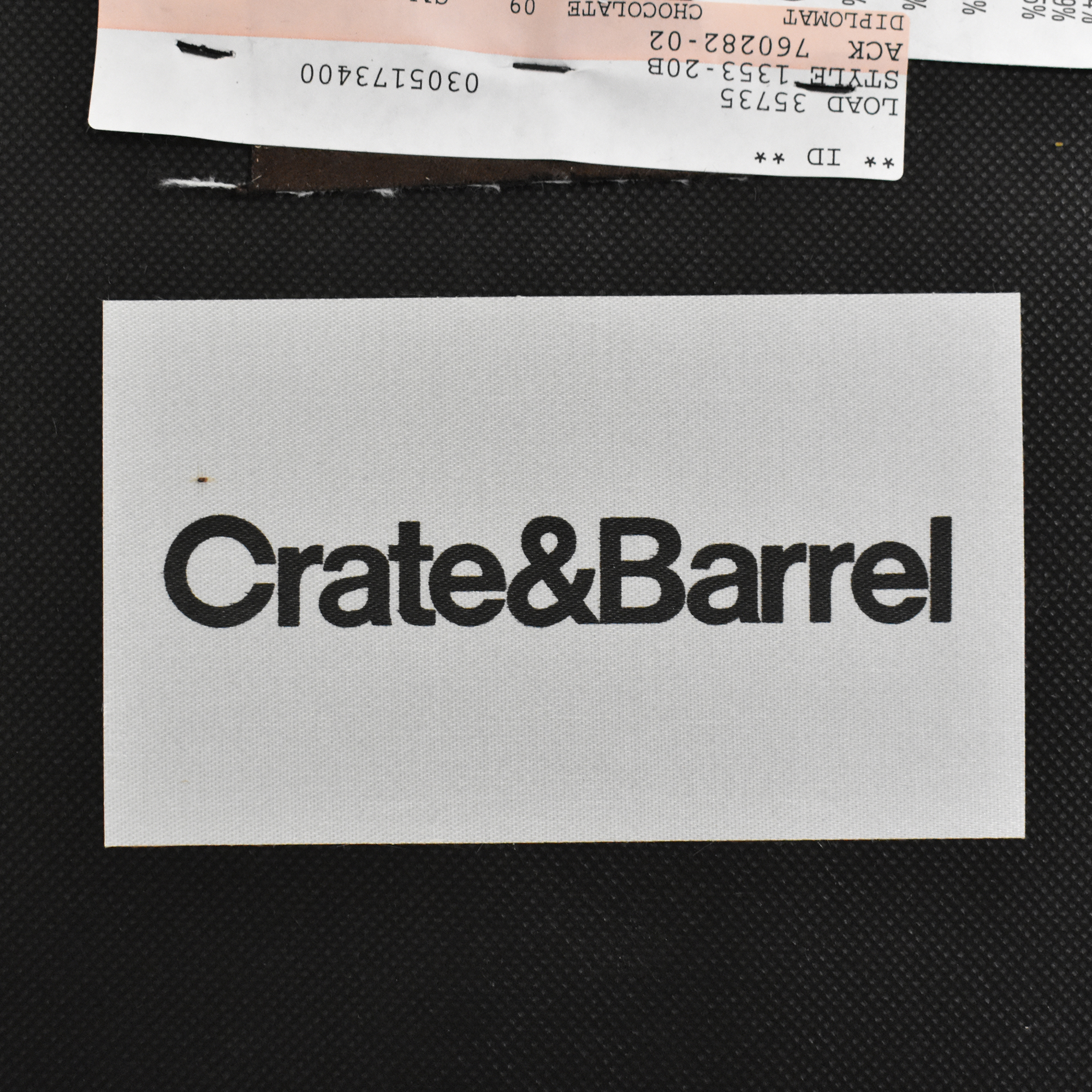Crate & Barrel Crate & Barrel Axis II Ottoman and a Half Storage