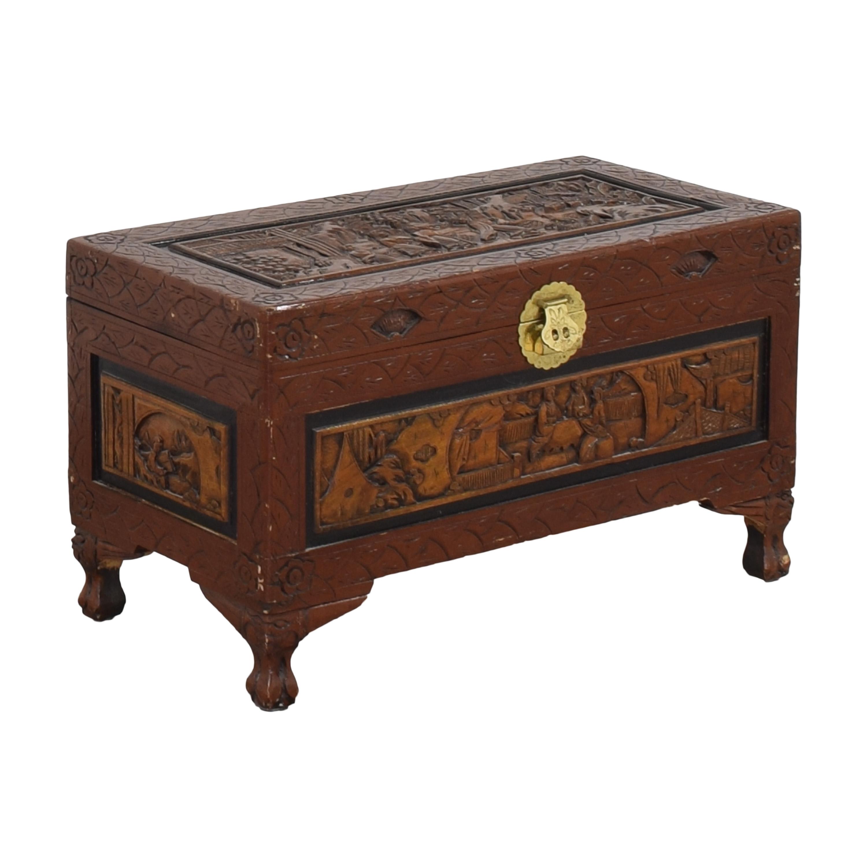 buy Vintage Carved Chest  Storage