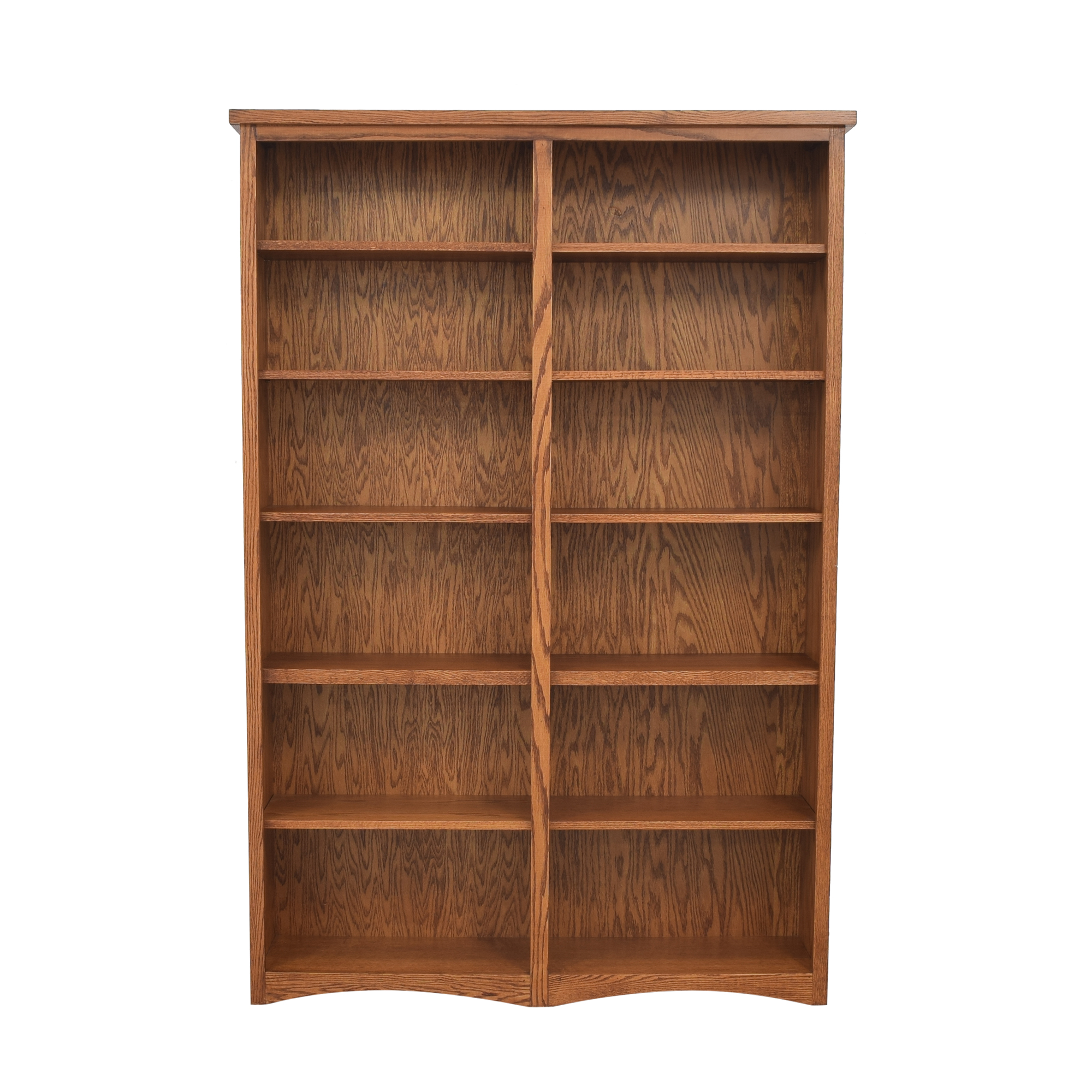 shop Oakcraft Mission Double Bookcase Oakcraft Storage