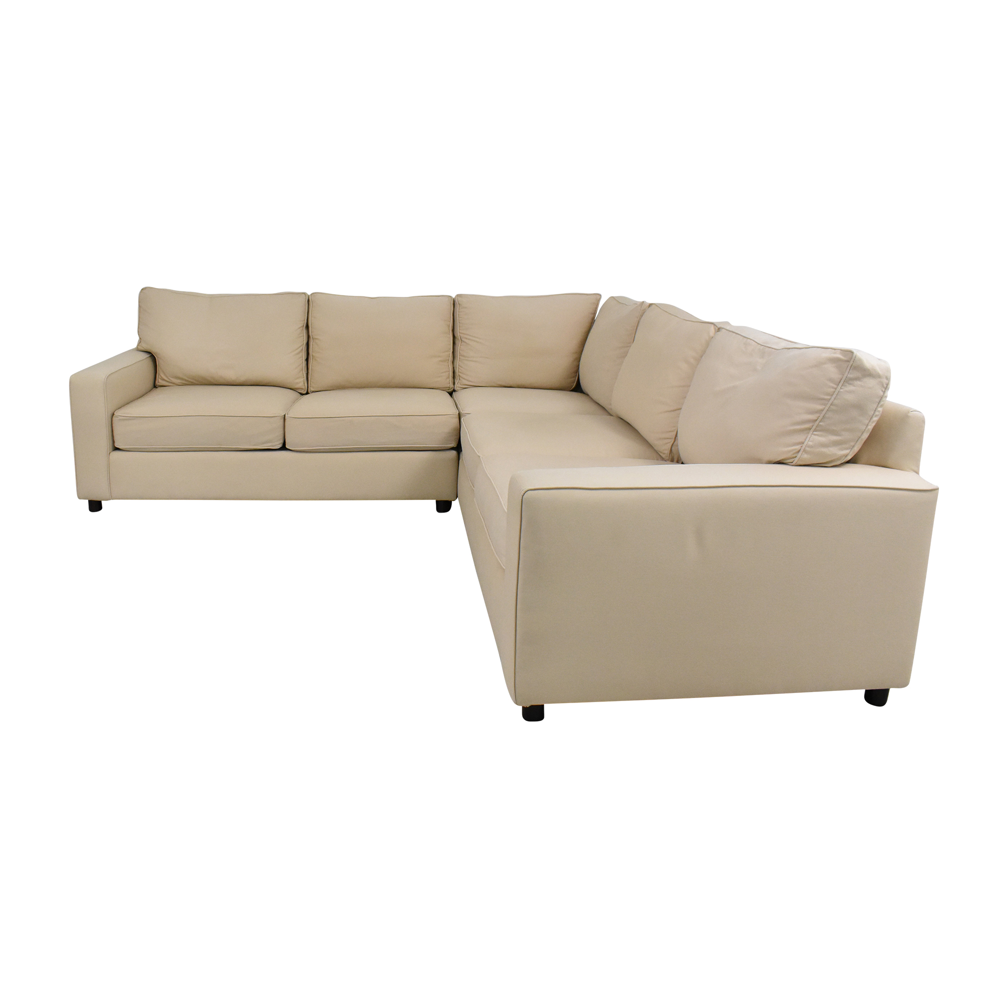 shop Pottery Barn Pottery Barn PB Comfort Square Arm Upholstered 3-Piece L-Sectional online