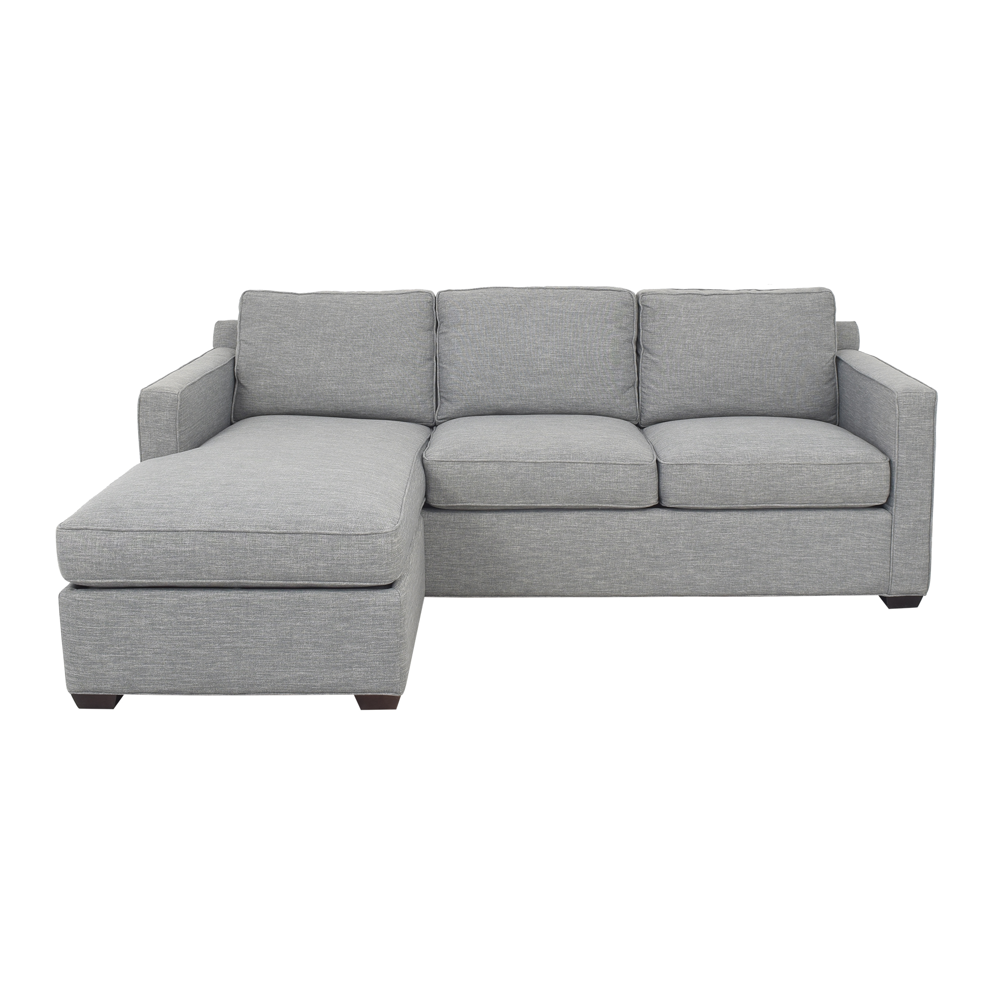 Crate & Barrel Barrett Reversible Sectional Sofa with Chaise sale